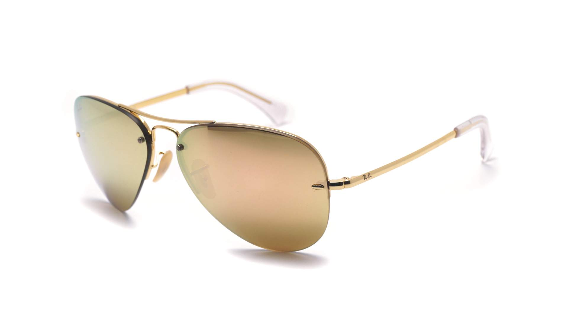 1d7bcff01bc74 Sunglasses Ray-Ban RB3449 001 2Y 59-14 Gold Large Mirror