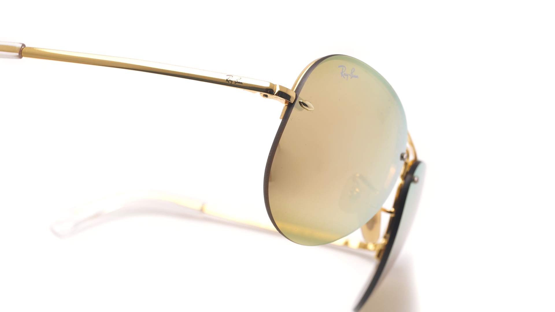 43f45fb6aa6 Sunglasses Ray-Ban RB3449 001 2Y 59-14 Gold Large Mirror