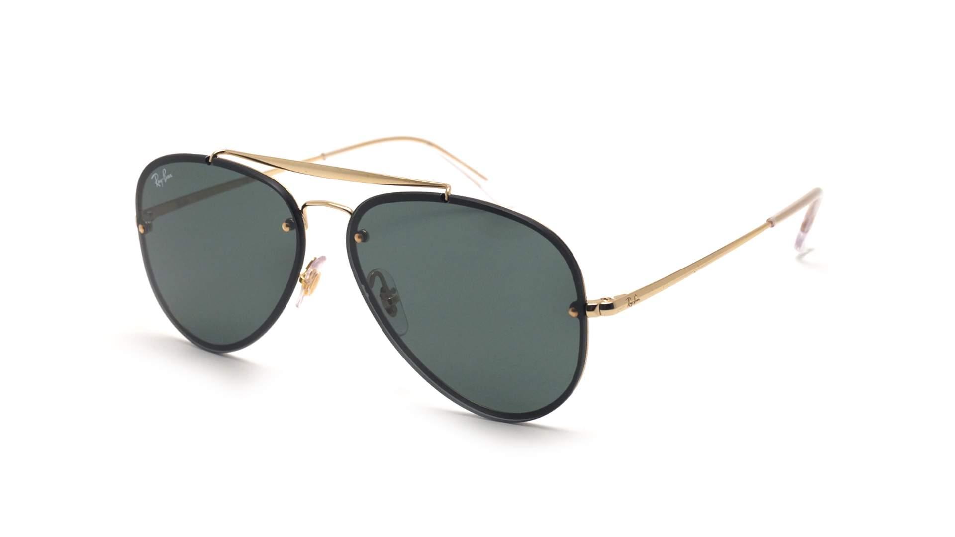 8f7bbd546fe6db Sunglasses Ray-Ban Blaze Aviator Gold RB3584N 9050 71 58-13 Medium