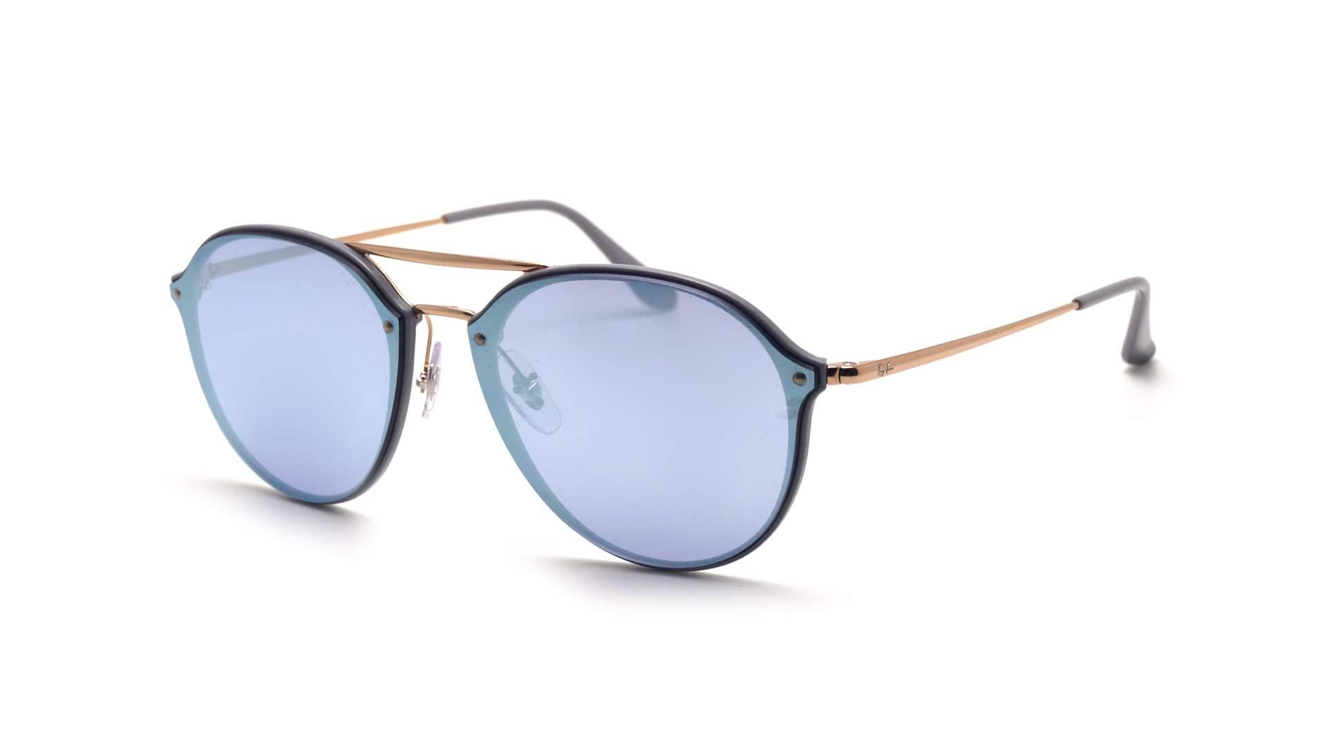 f2abc993f3a Sunglasses Ray-Ban Blaze Double Bridge Silver RB4292N 6326 1U 62-14 Large  Mirror
