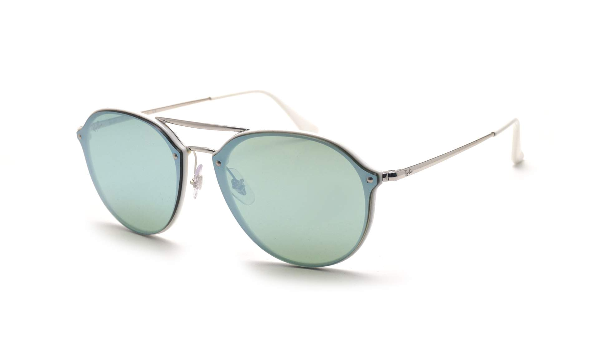 a51c9644ea Sunglasses Ray-Ban Blaze Double Bridge Silver RB4292N 671 30 62-14 Large  Mirror