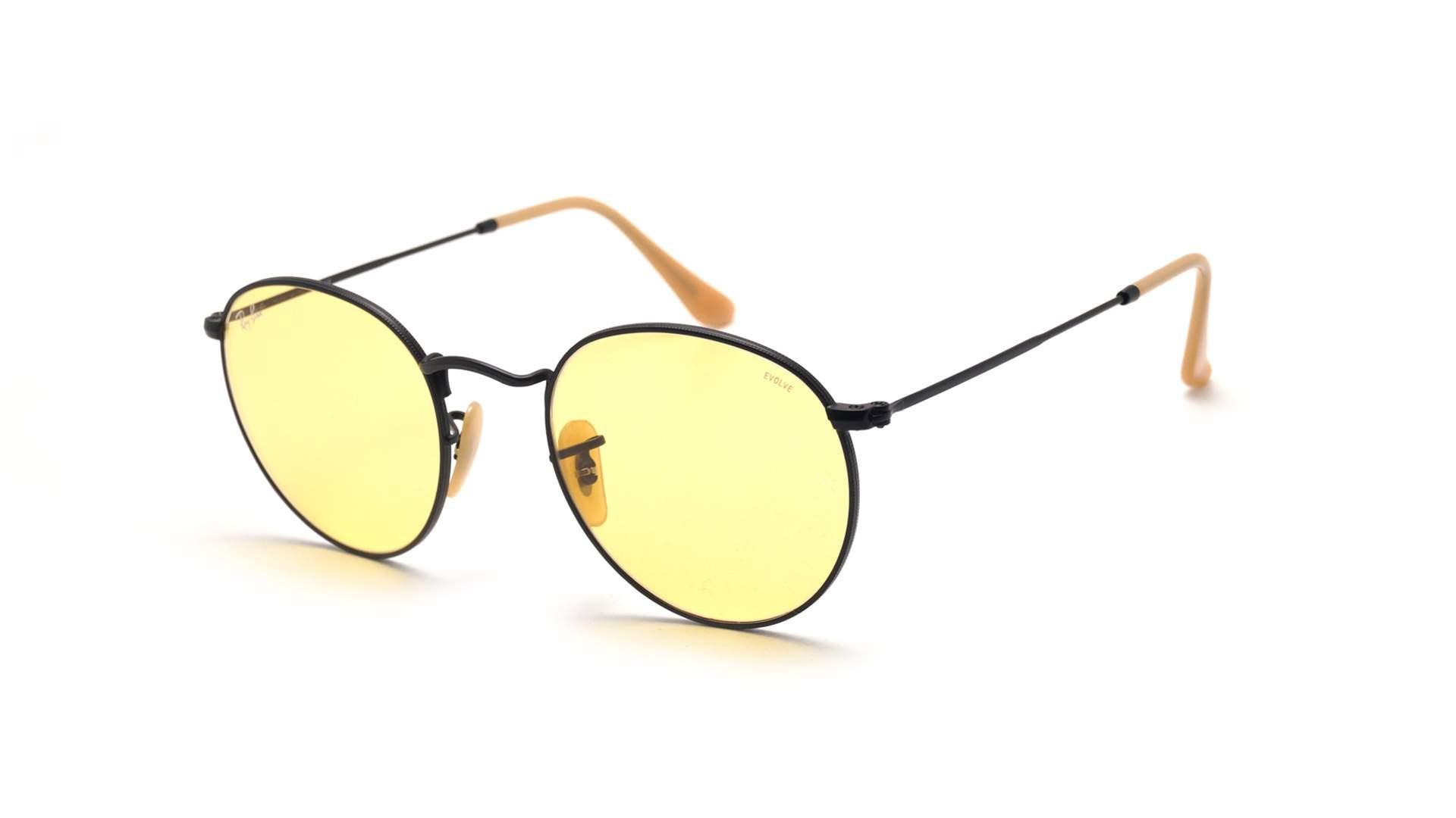 f89a9638a4e Sunglasses Ray-Ban Round Evolve Black Matte RB3447 9066 4A 50-21 Medium  Photochromic