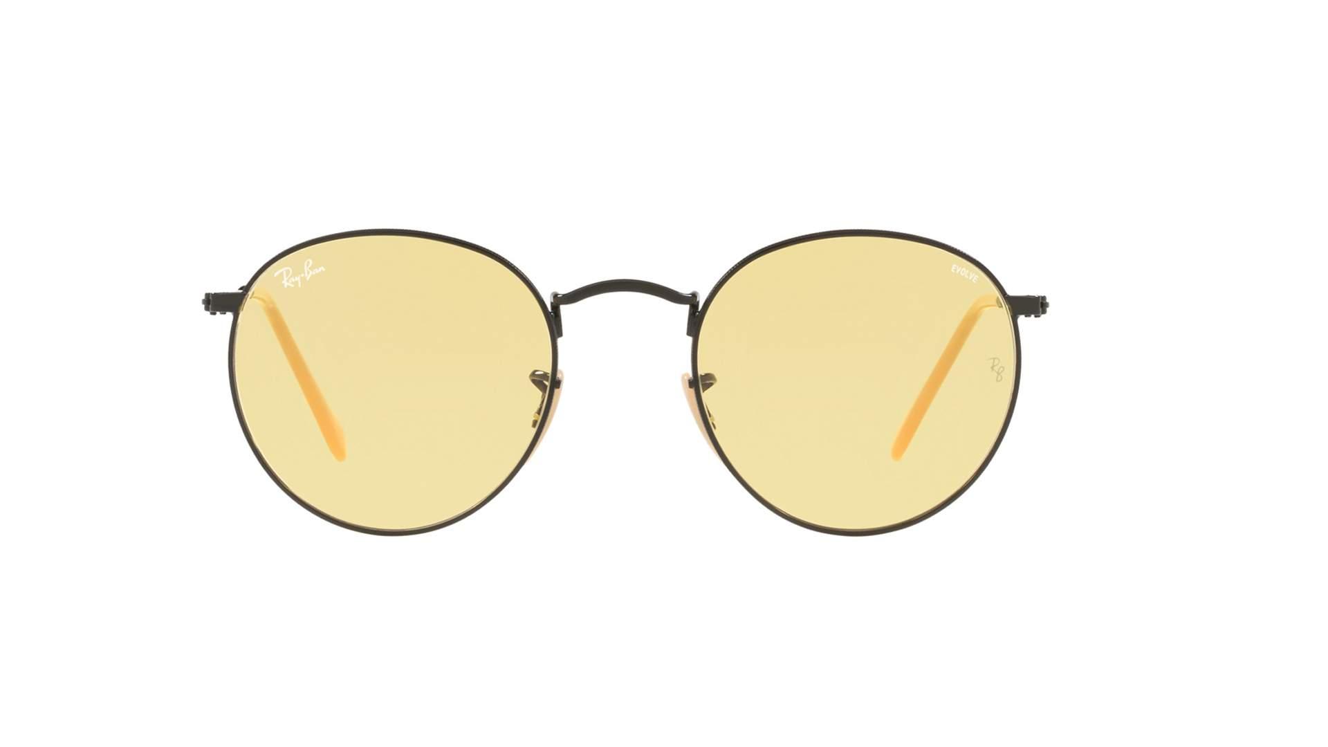 3ac9528430 Sunglasses Ray-Ban Round Evolve Black Matte RB3447 9066 4A 50-21 Medium  Photochromic
