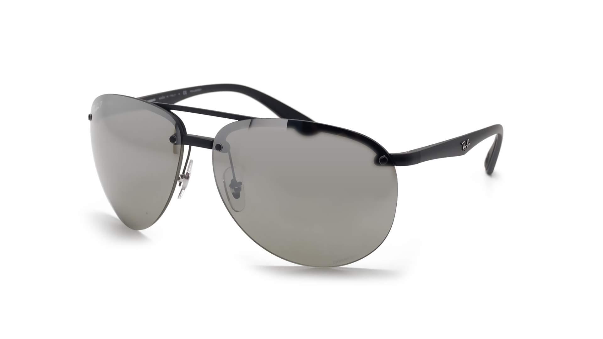 e918b0f8e9e Sunglasses Ray-Ban RB4293CH 601S 5J 65-13 Black Matte Chromance Large Polarized  Mirror