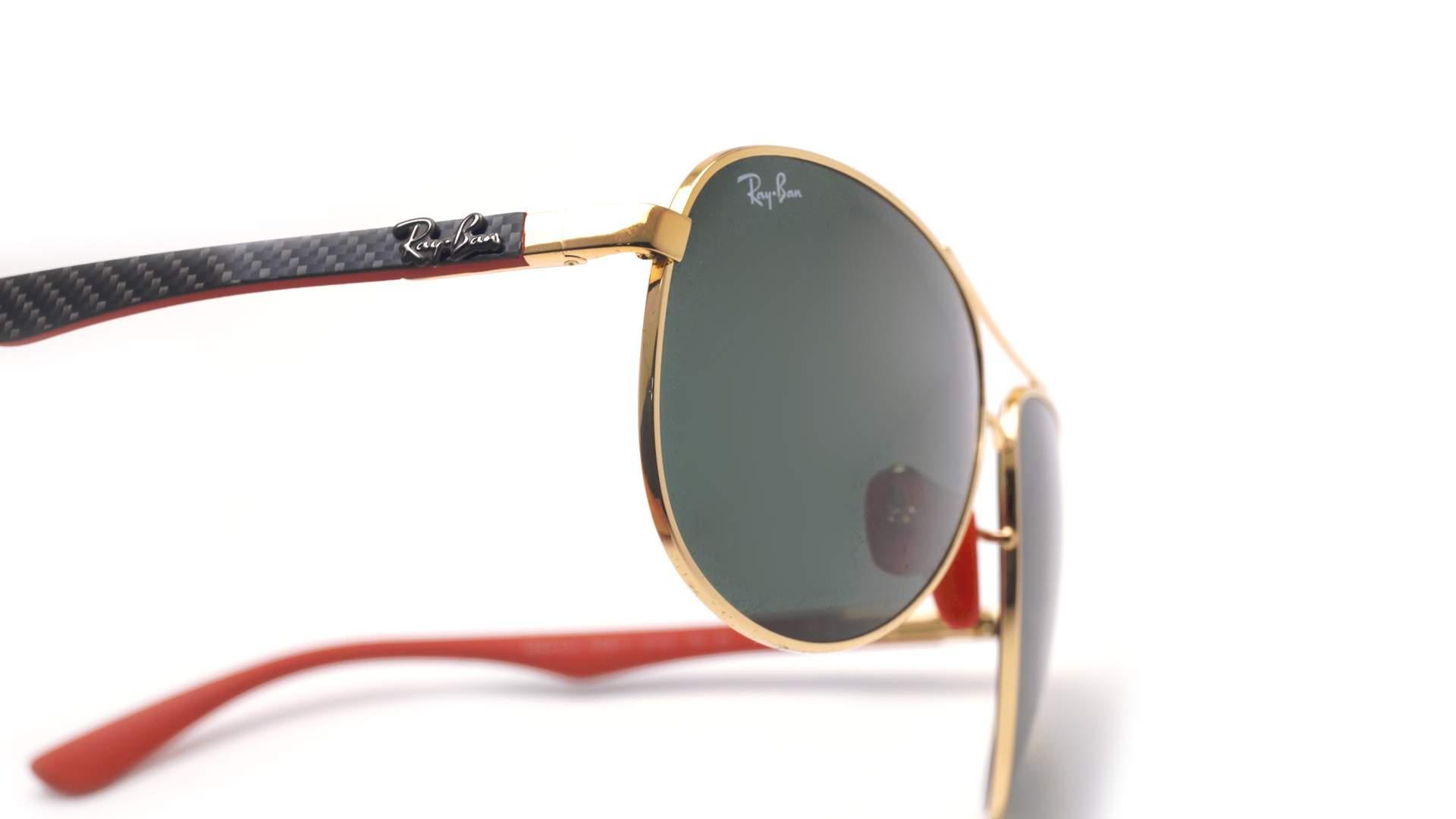 cd9cde833e4 Sunglasses Ray-Ban Aviator Scuderia Ferrari Gold RB8313M F008 71 61-13 Large