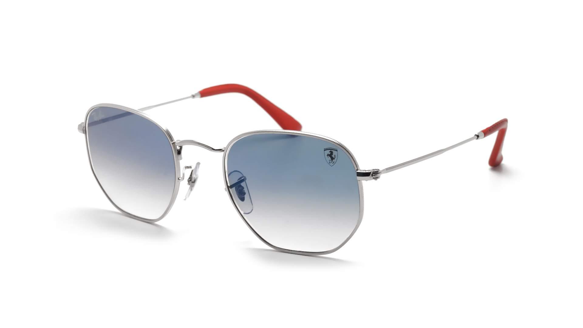a8f8d9e5ebc Sunglasses Ray-Ban Hexagonal Scuderia Ferrari Silver RB3548NM F007 3F 51-21  Medium Gradient