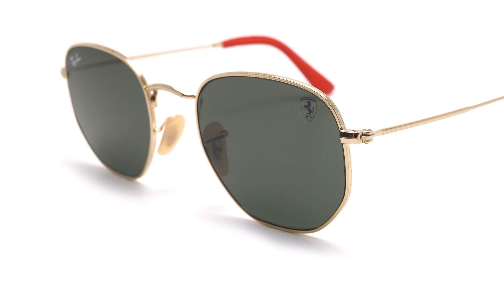 29b26fadf Sunglasses Ray-Ban Hexagonal Scuderia Ferrari Gold G-15 RB3548NM F008/31  51-21 Medium