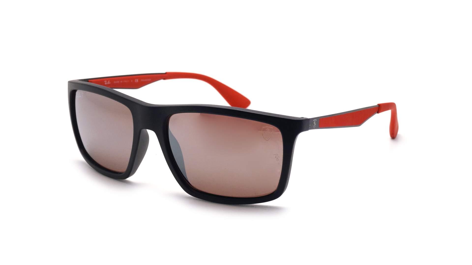 349d43df21 Sunglasses Ray-Ban Scuderia Ferrari RB4228M F602 H2 58-18 Black Matte Large  Polarized Mirror
