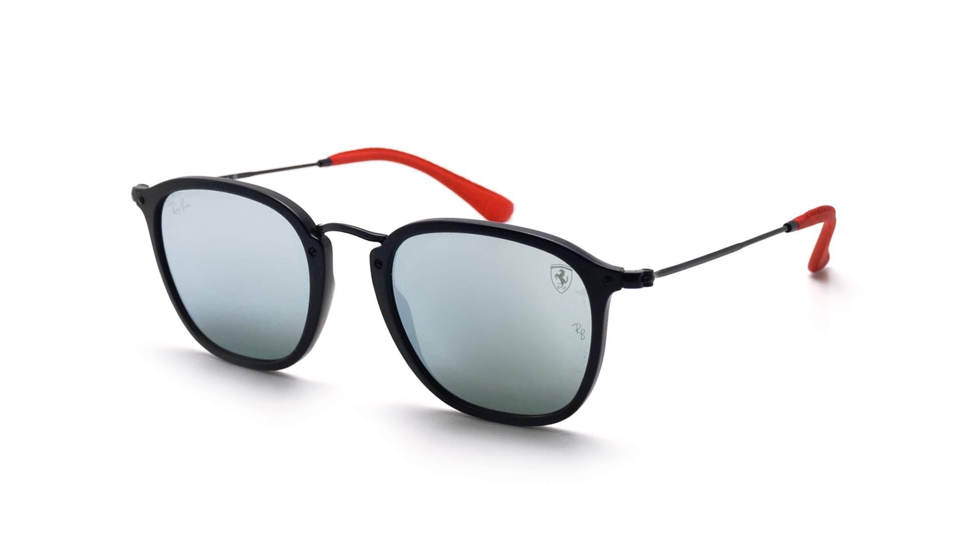fa8bc887c9dc4b Lunettes de soleil Ray-Ban Scuderia Ferrari RB2448NM F602 30 51-21 Noir Mat  Medium Miroirs