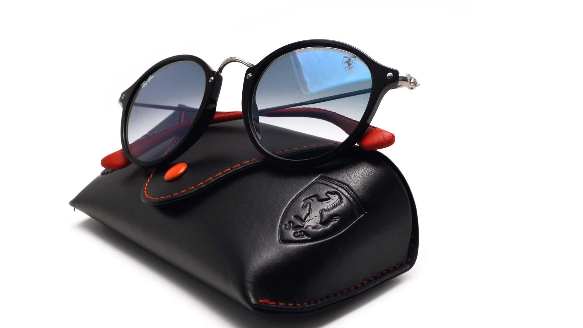 983e44eda7 Sunglasses Ray-Ban Round Scuderia Ferrari Black RB2447NM F601 3F 49-21  Medium Gradient