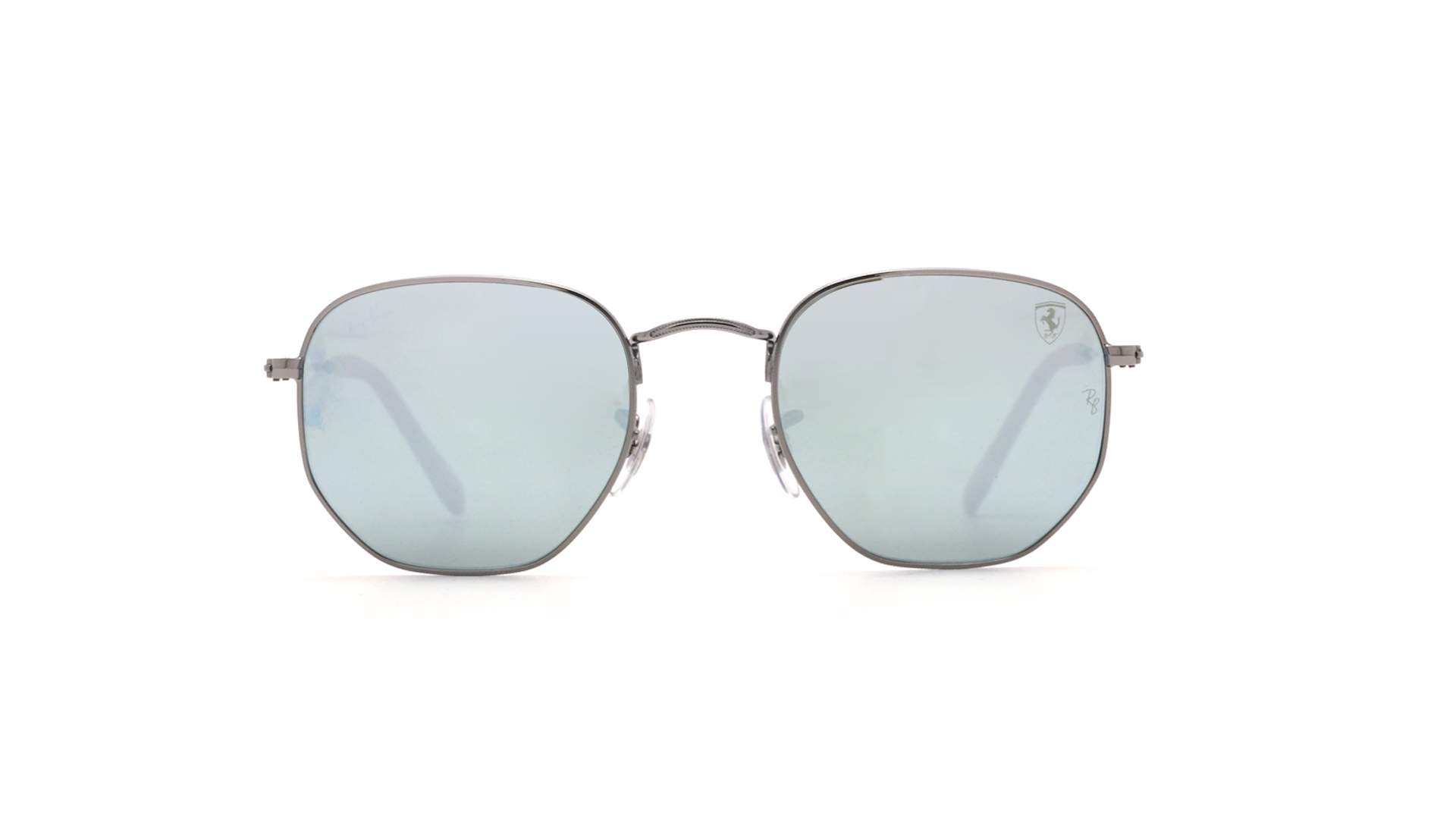 283e12ee21f Sunglasses Ray-Ban Hexagonal Scuderia Ferrari Silver RB3548NM F001 30 51-21  Medium Mirror