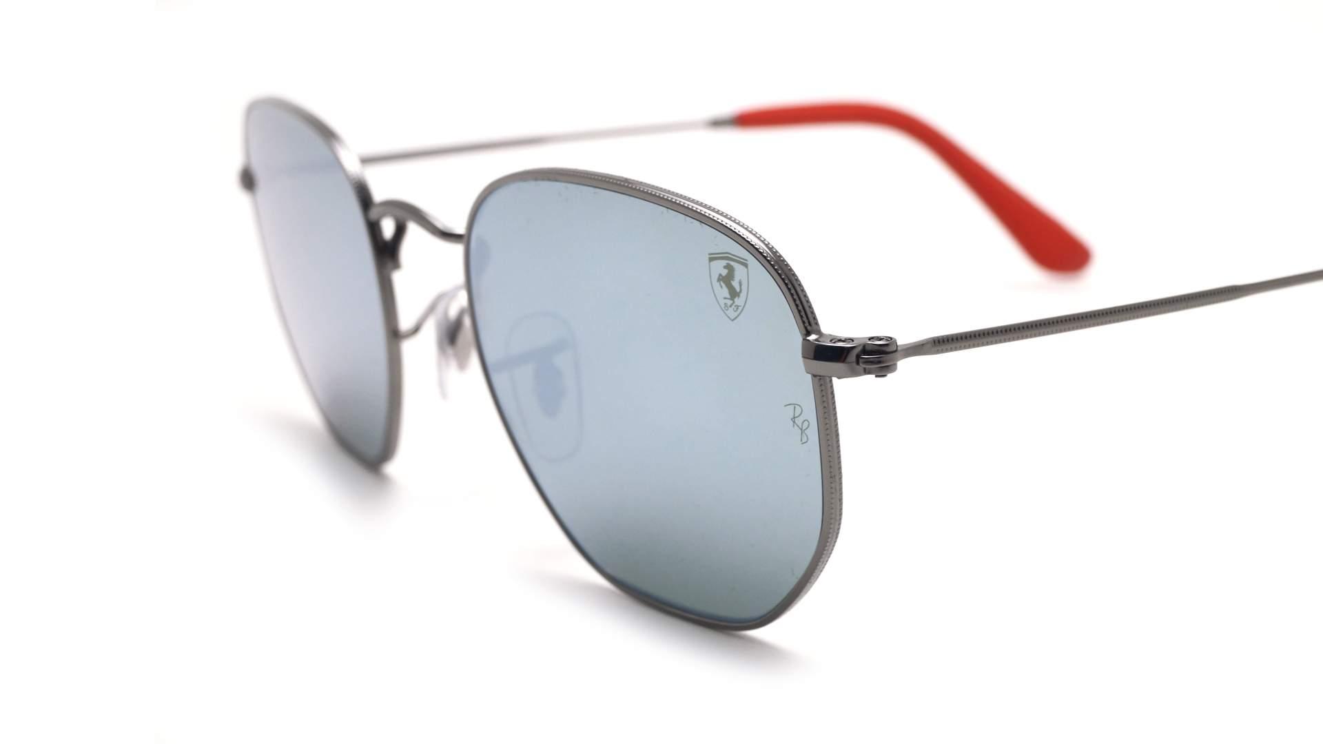 95de2ea5e8 Sunglasses Ray-Ban Hexagonal Scuderia Ferrari Silver RB3548NM F001 30 51-21  Medium Mirror