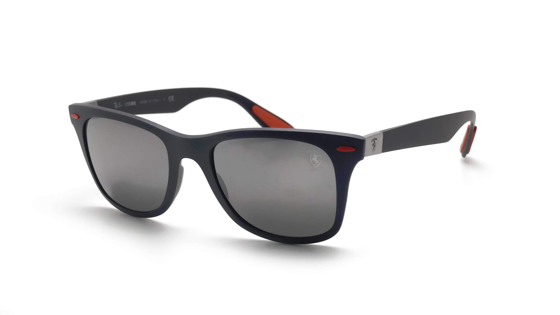 b7042fcc05 Sunglasses Ray-Ban Wayfarer Scuderia Ferrari Grey Matte RB4195M F605 6G  52-20 Medium Mirror