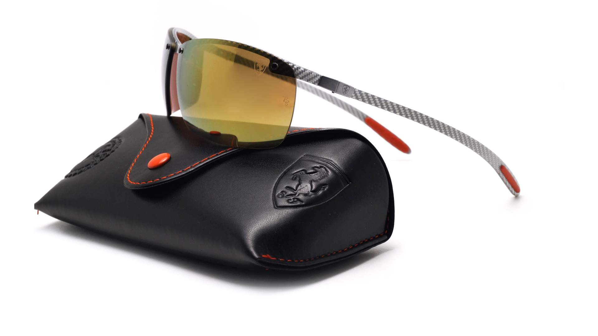 c5420fef978d1 Sunglasses Ray-Ban Fibre Carbon Scuderia Ferrari Grey Chromance RB8305M  F006 6B 65-14 Large Polarized Mirror