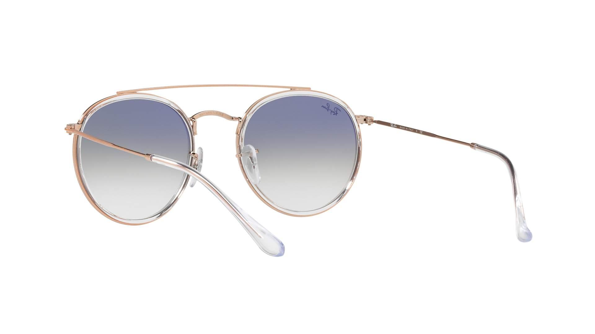 1b9b76f10 Sunglasses Ray-Ban Round Double Bridge Clear RB3647N 9068/3F 51-22 Medium  Gradient