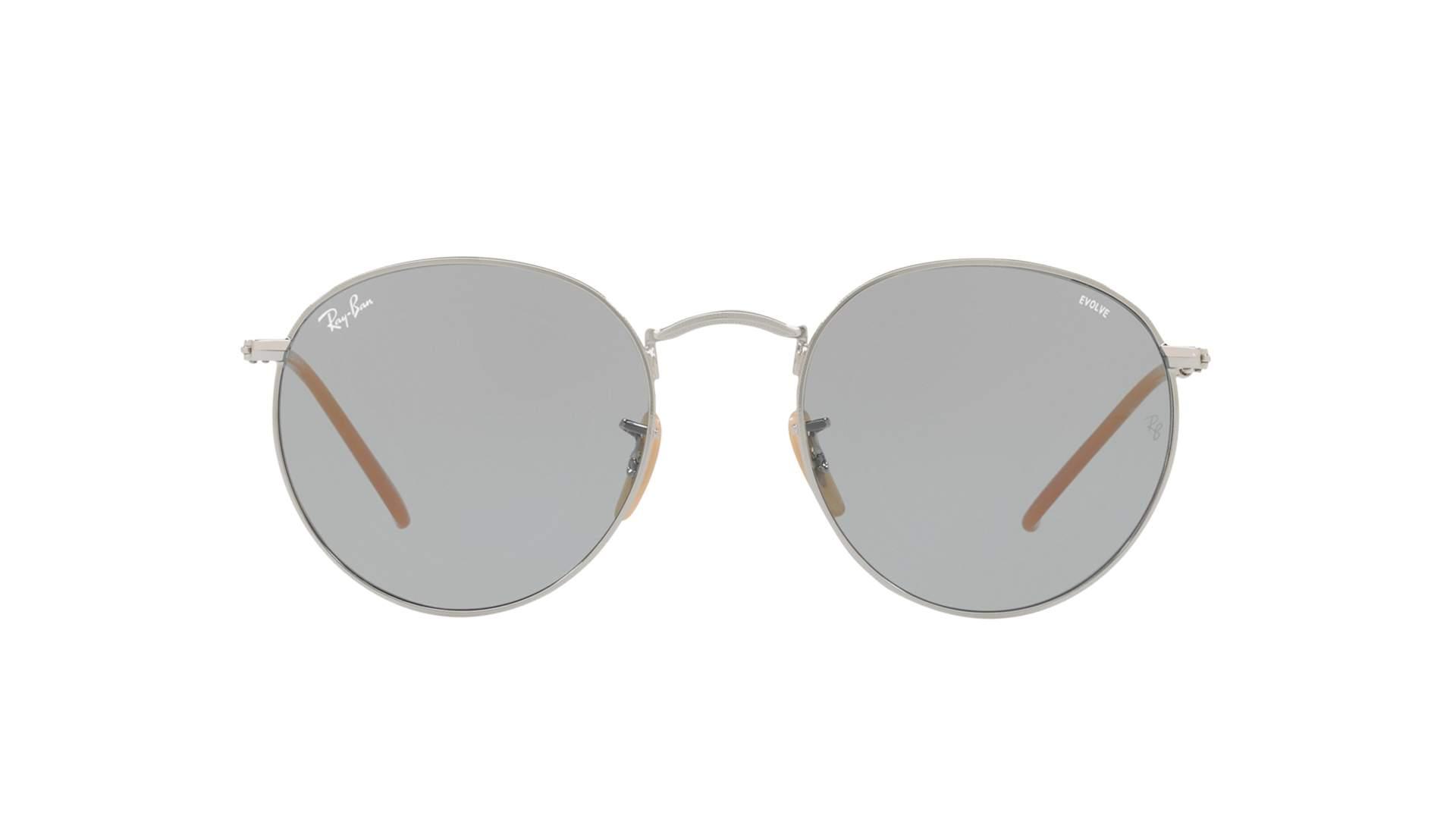 b5c308c9a6aba Sunglasses Ray-Ban Round Evolve Silver RB3447 9065 I5 50-51 Medium  Photochromic