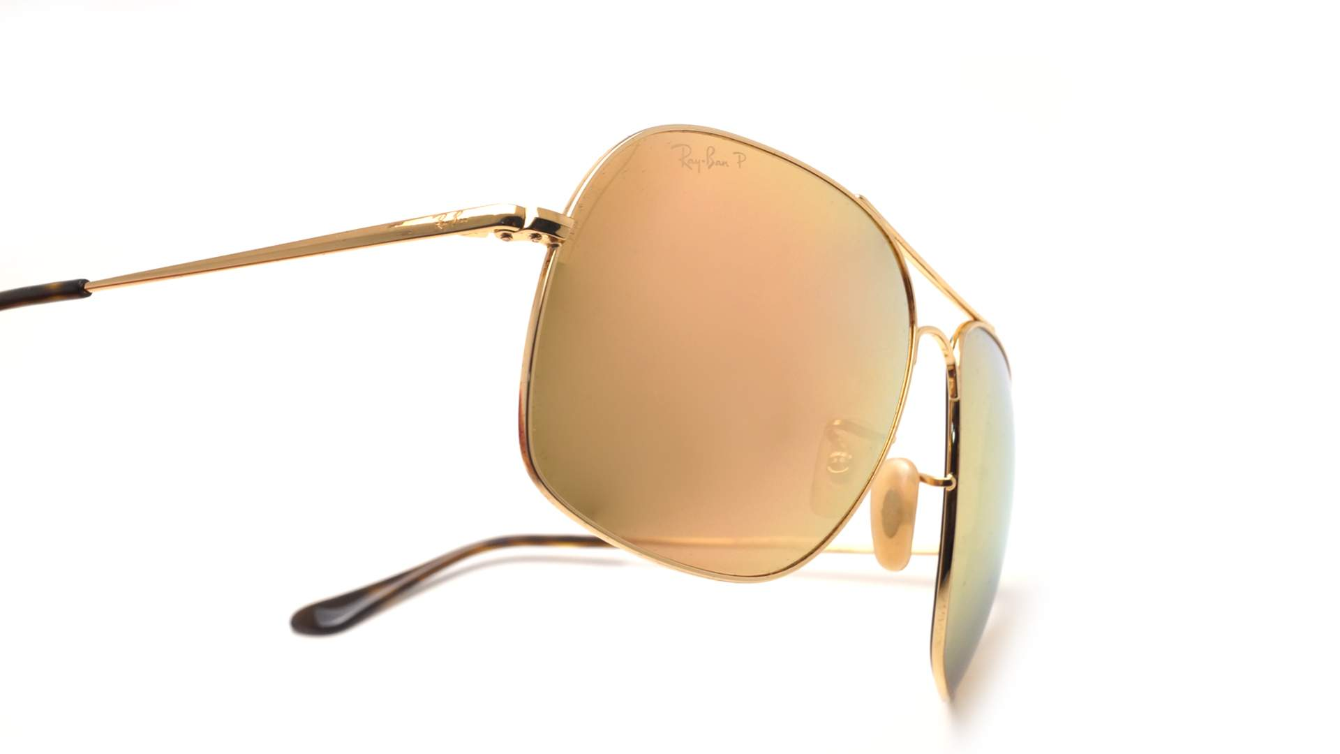 d448582f972 Sunglasses Ray-Ban RB3587CH 001 I0 61-15 Gold Chromance Large Polarized  Gradient Mirror