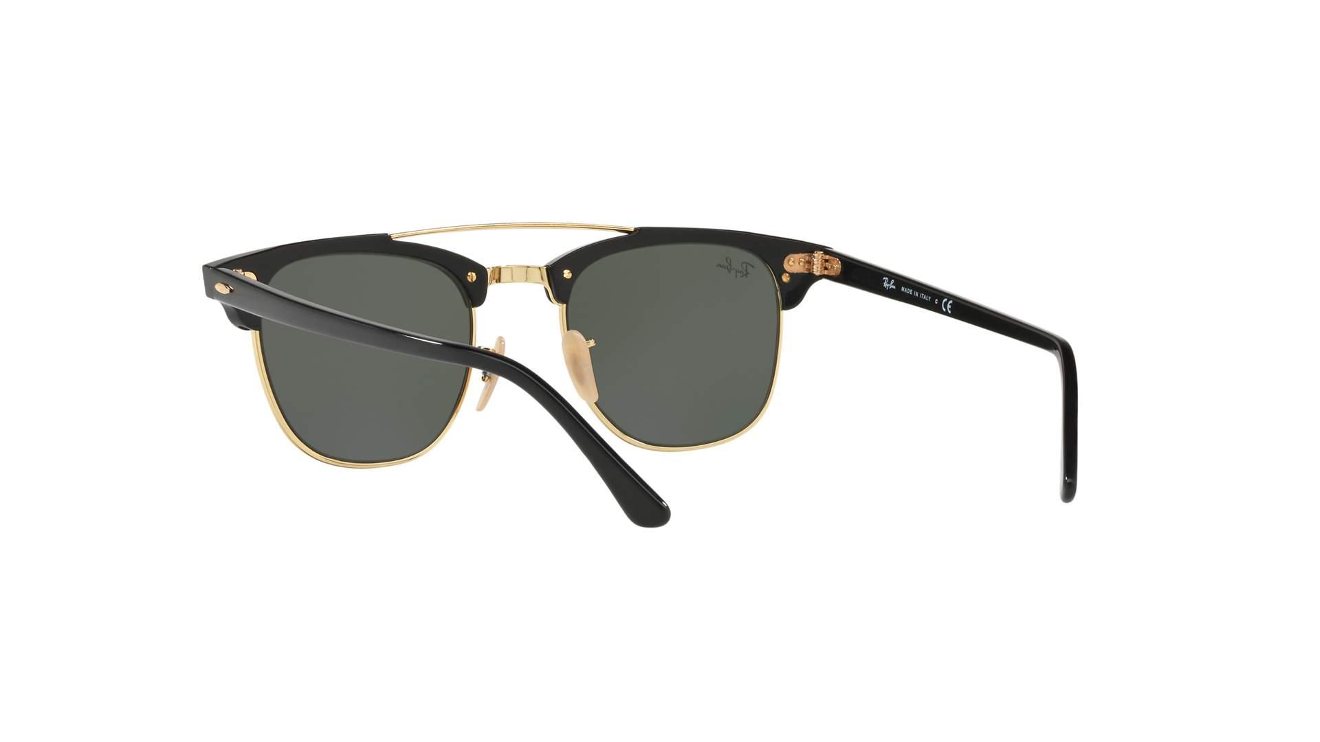 b6ed1e21f4d Sunglasses Ray-Ban Clubmaster Double Bridge Black G-15 RB3816 901 51-21  Medium