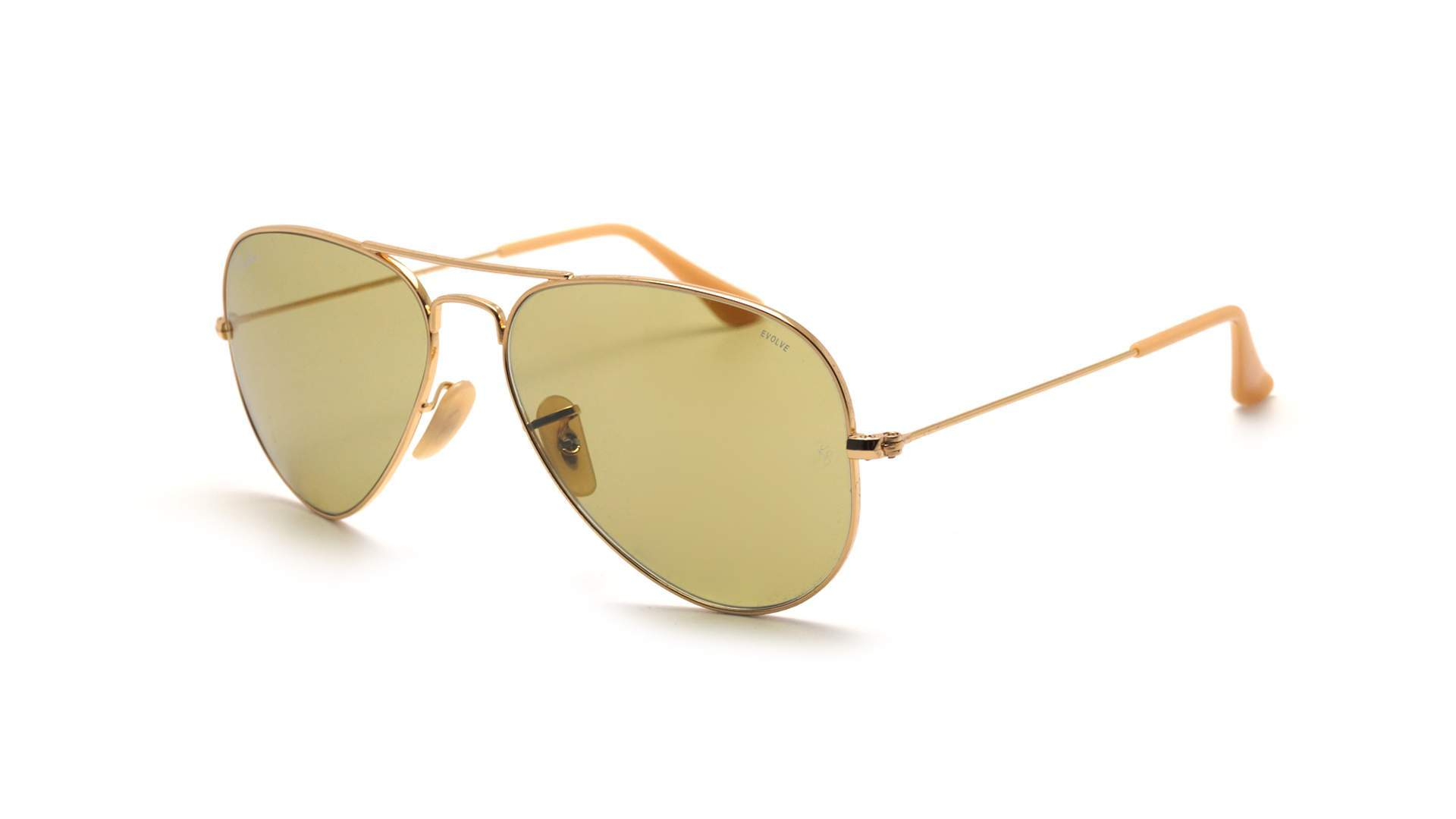 7e72b48e4d Sunglasses Ray-Ban Aviator Evolve Gold RB3025 9064 4C 55-14 Medium  Photochromic