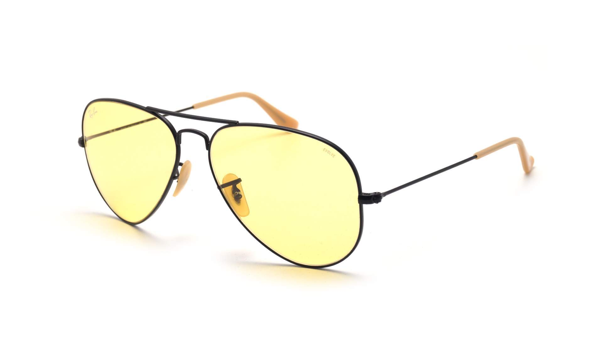 8c78ec39d Sunglasses Ray-Ban Aviator Evolve Black Matte RB3025 9066/4A 55-14 Small  Photochromic