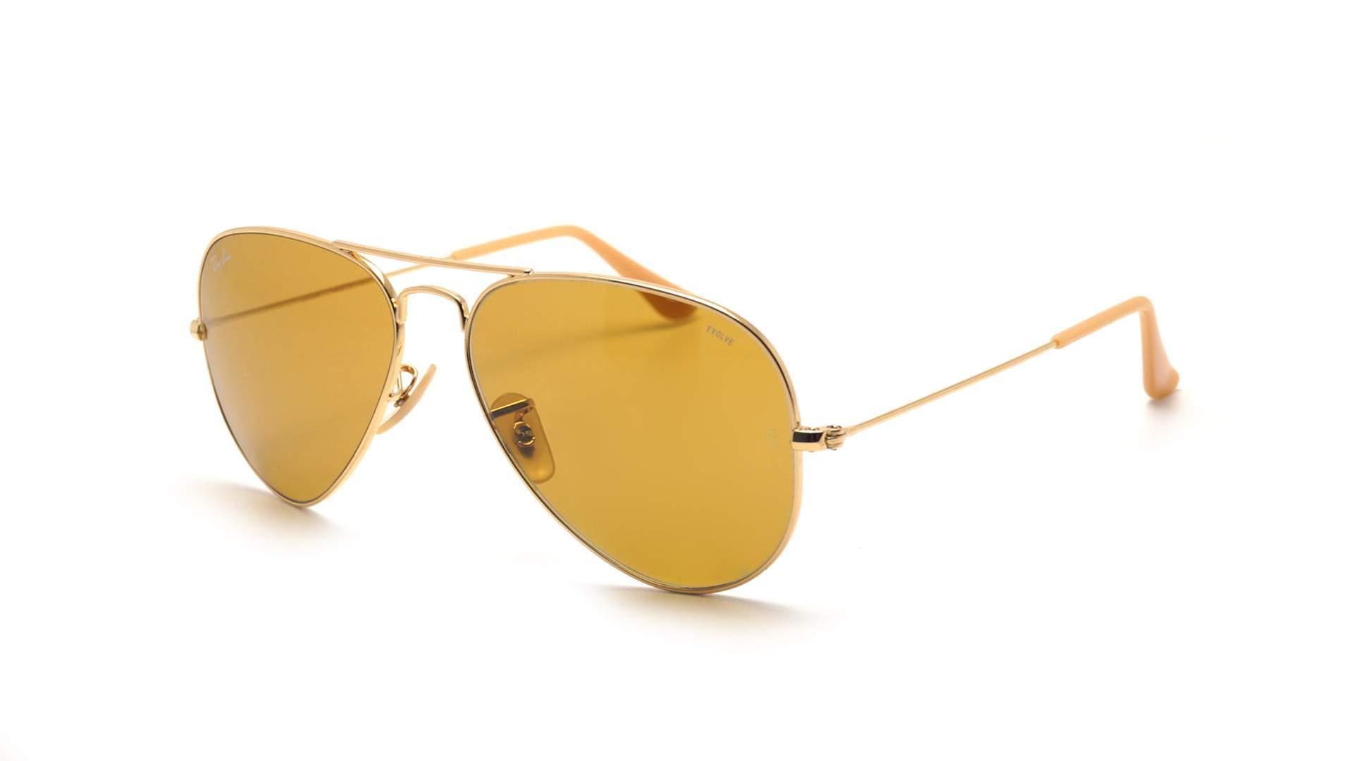 bfbce33aad Sunglasses Ray-Ban Aviator Evolve Gold RB3025 9064/4I 55-14 Medium  Photochromic