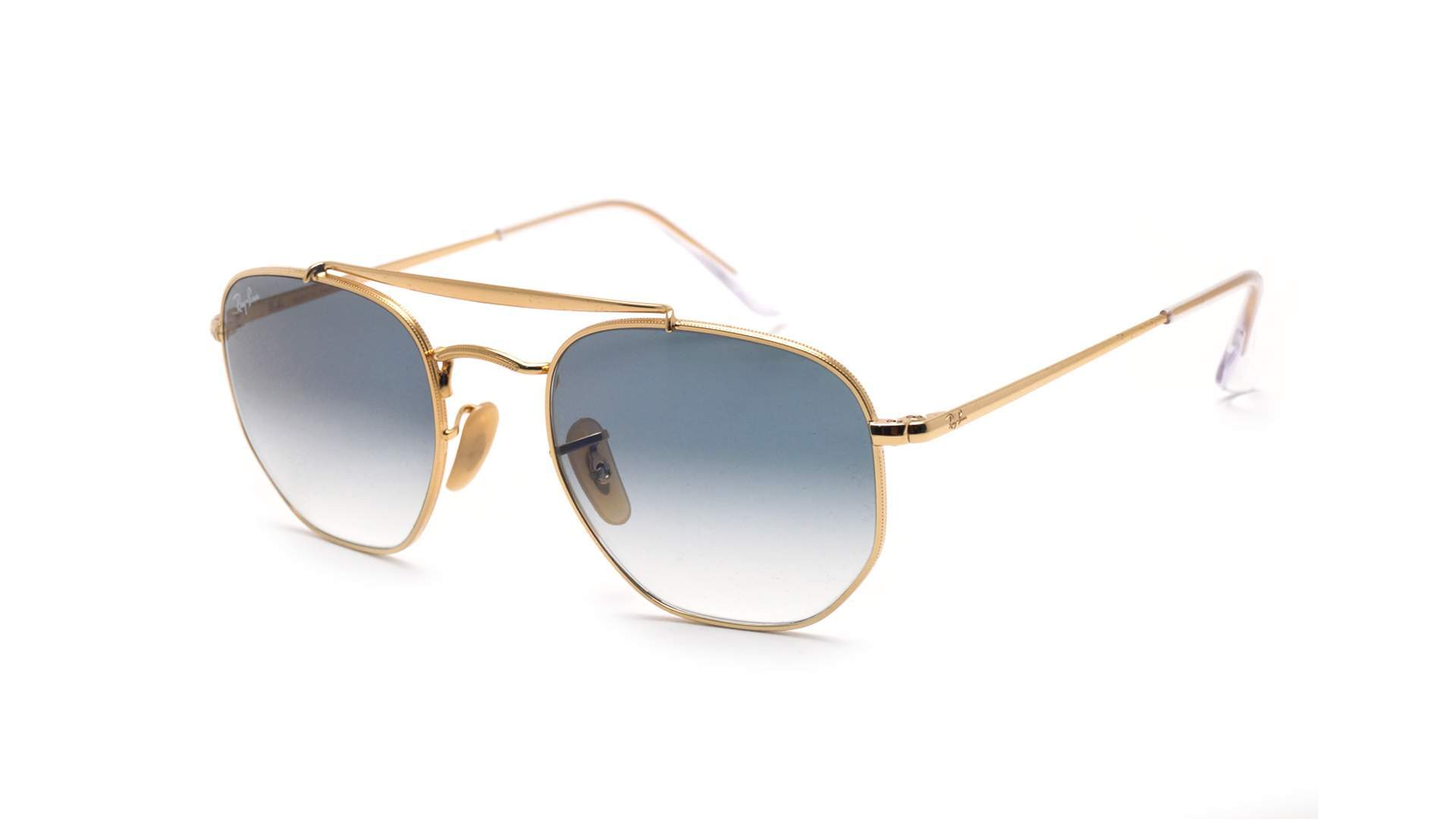 2615e4e6ed Sunglasses Ray-Ban Marshal Gold RB3648 001 3F 54-21 Large Gradient