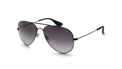 3605138764 Sunglasses Ray-Ban Aviator Black RB3558 002 T3 58-14 Medium Polarized  Gradient