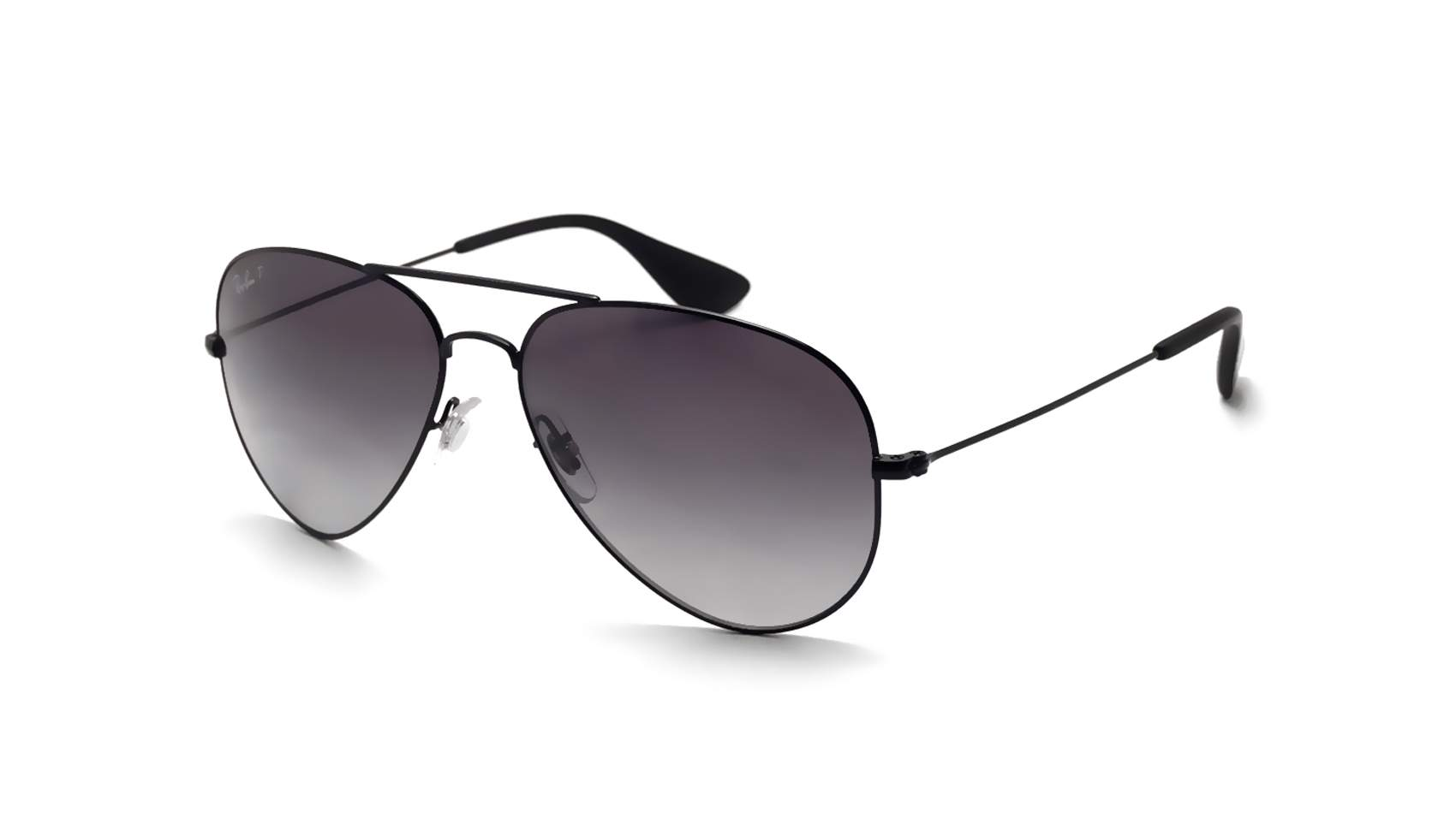 Ray ban aviator black rb3558 002 t3 58 14 polarized visiofactory - Ray ban aviator lenti a specchio ...