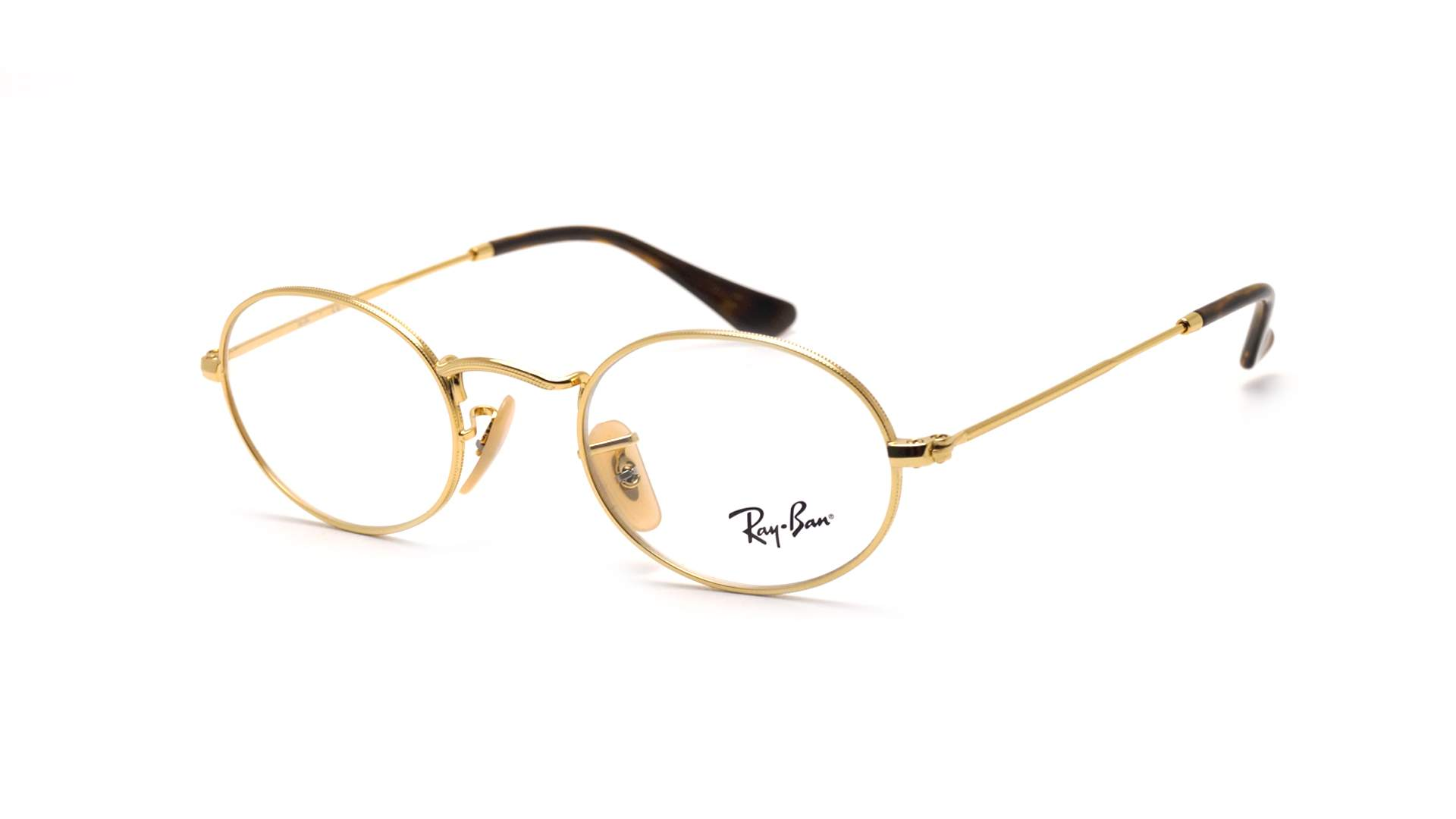 cb330797d3 Eyeglasses Ray-Ban Oval Gold RX3547 RB3547V 2500 48-21 Small