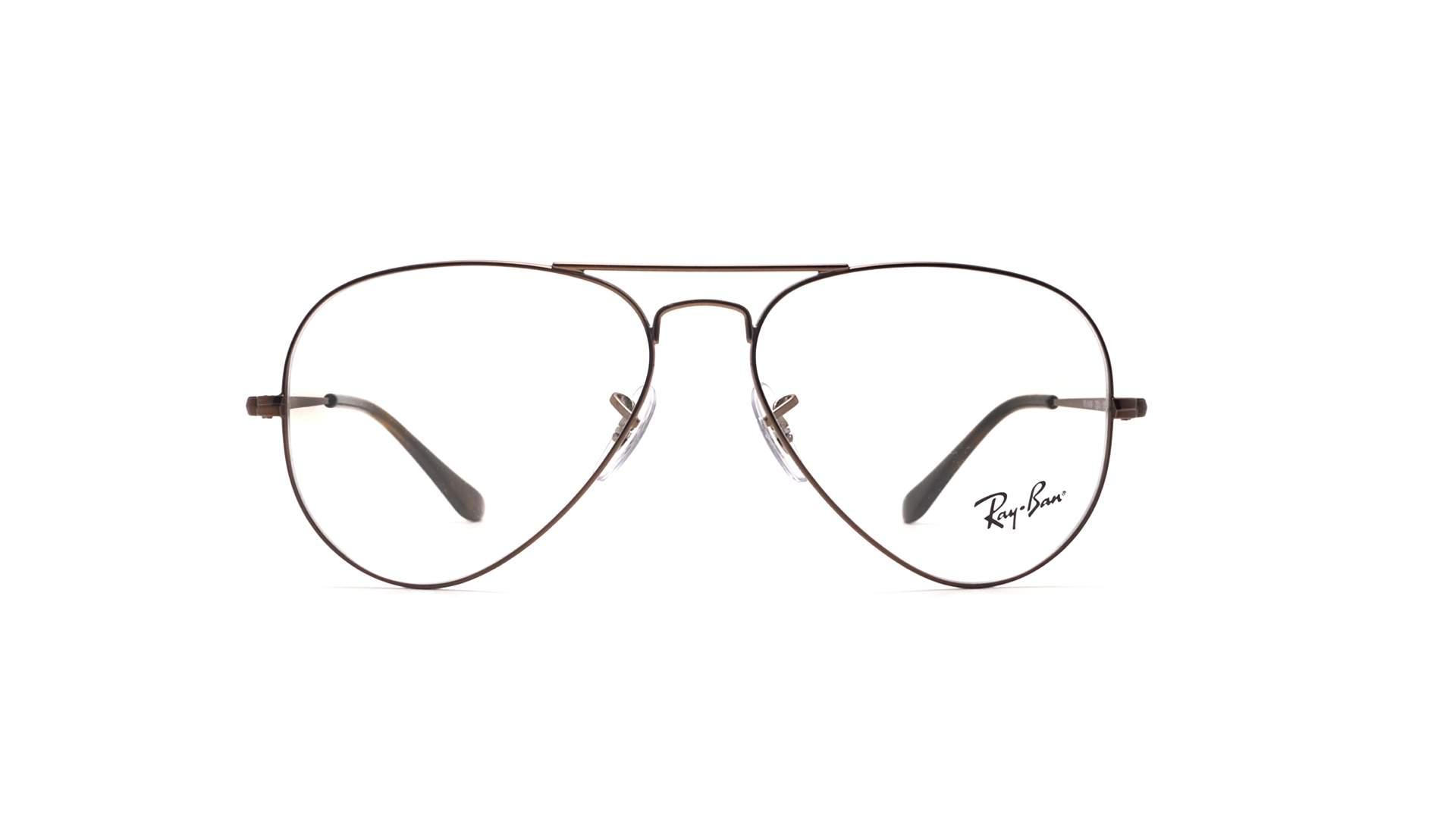 e5a55a0de3 Eyeglasses Ray-Ban Aviator Optics Brown RX6489 RB6489 2531 55-14 Medium