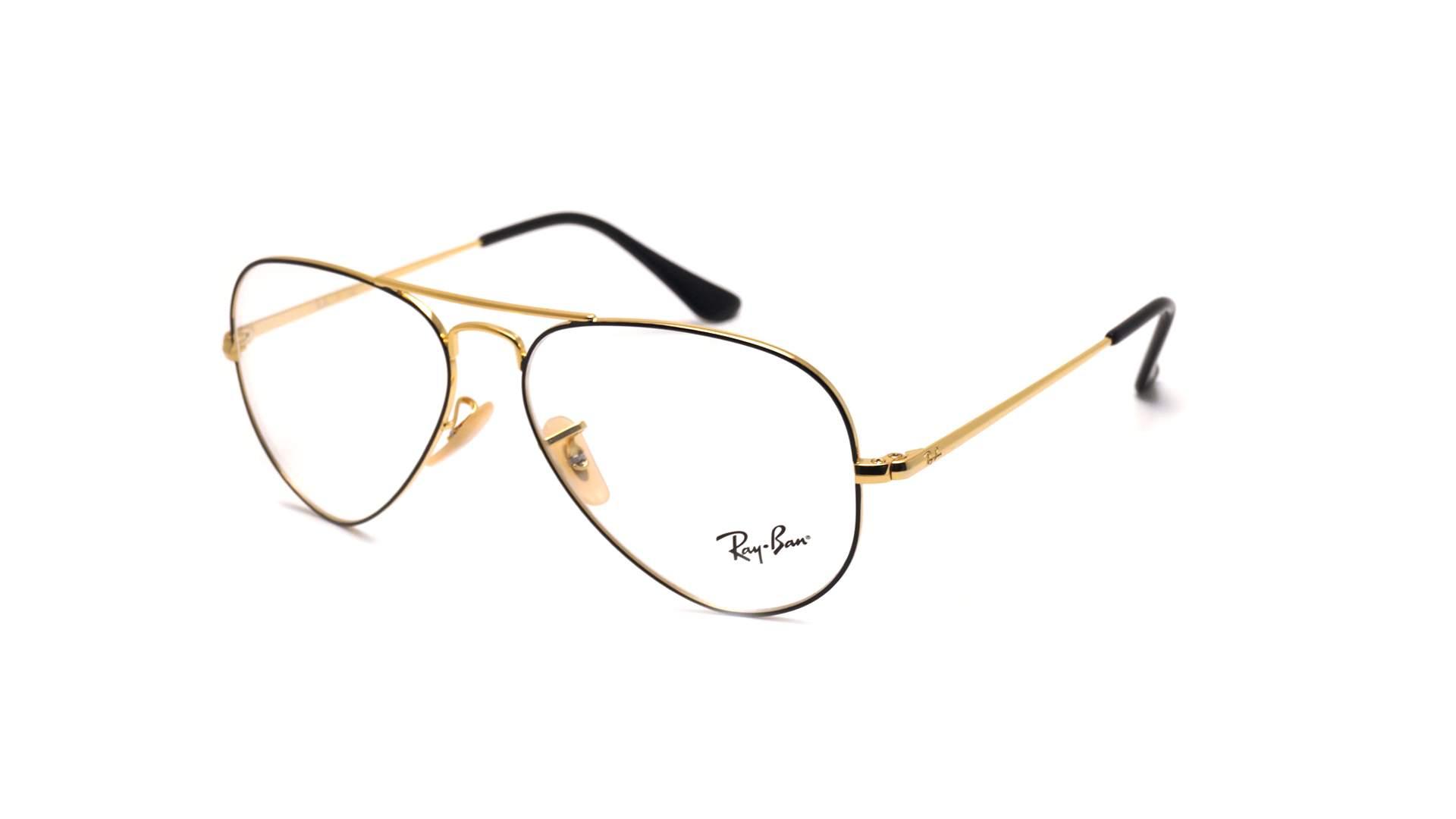 dfc4352a07fa Eyeglasses Ray-Ban Aviator Optics Black RX6489 RB6489 2946 55-14 Medium