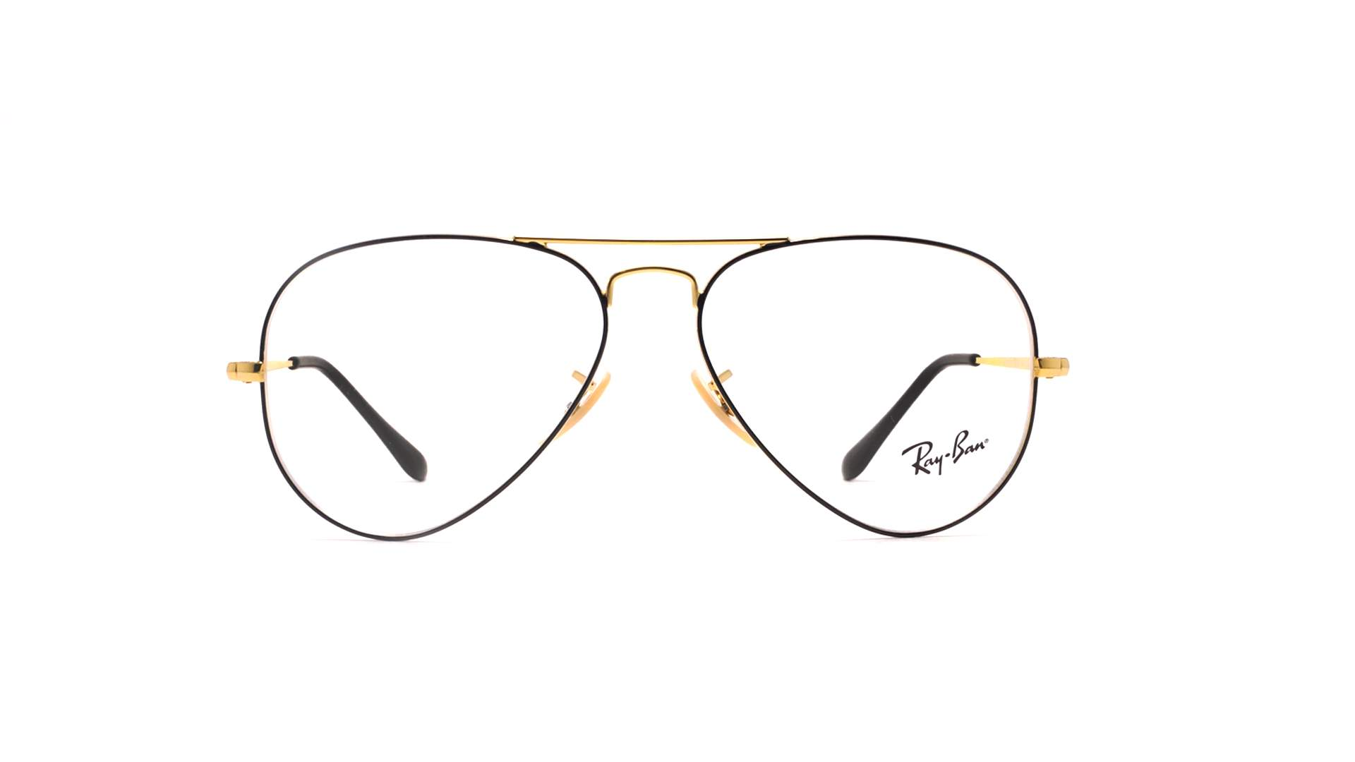 b1d035d21192c6 Lunettes de vue Ray-Ban Aviator Optics Noir RX6489 RB6489 2946 55-14 Medium