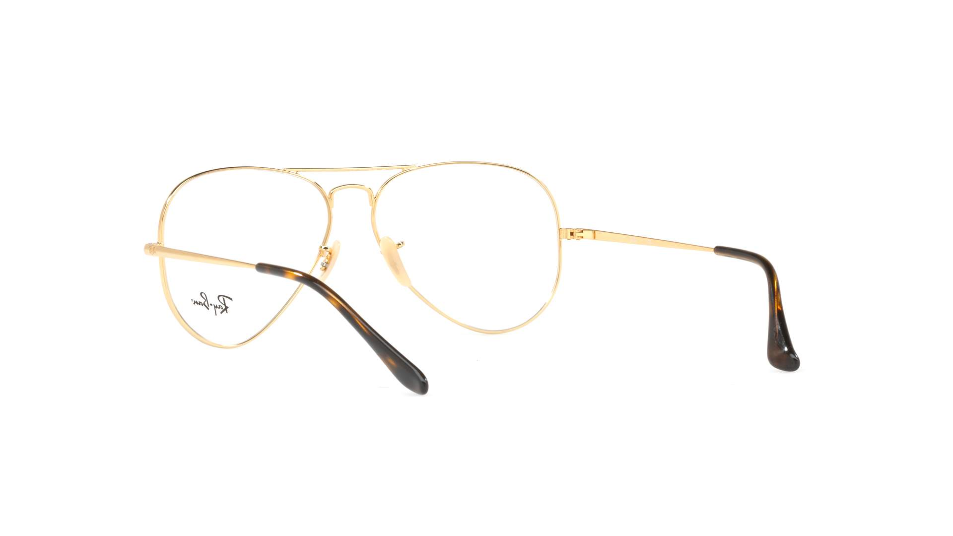 2992a5d536844 Eyeglasses Ray-Ban Aviator Optics Gold RX6489 RB6489 2945 55-14 Medium
