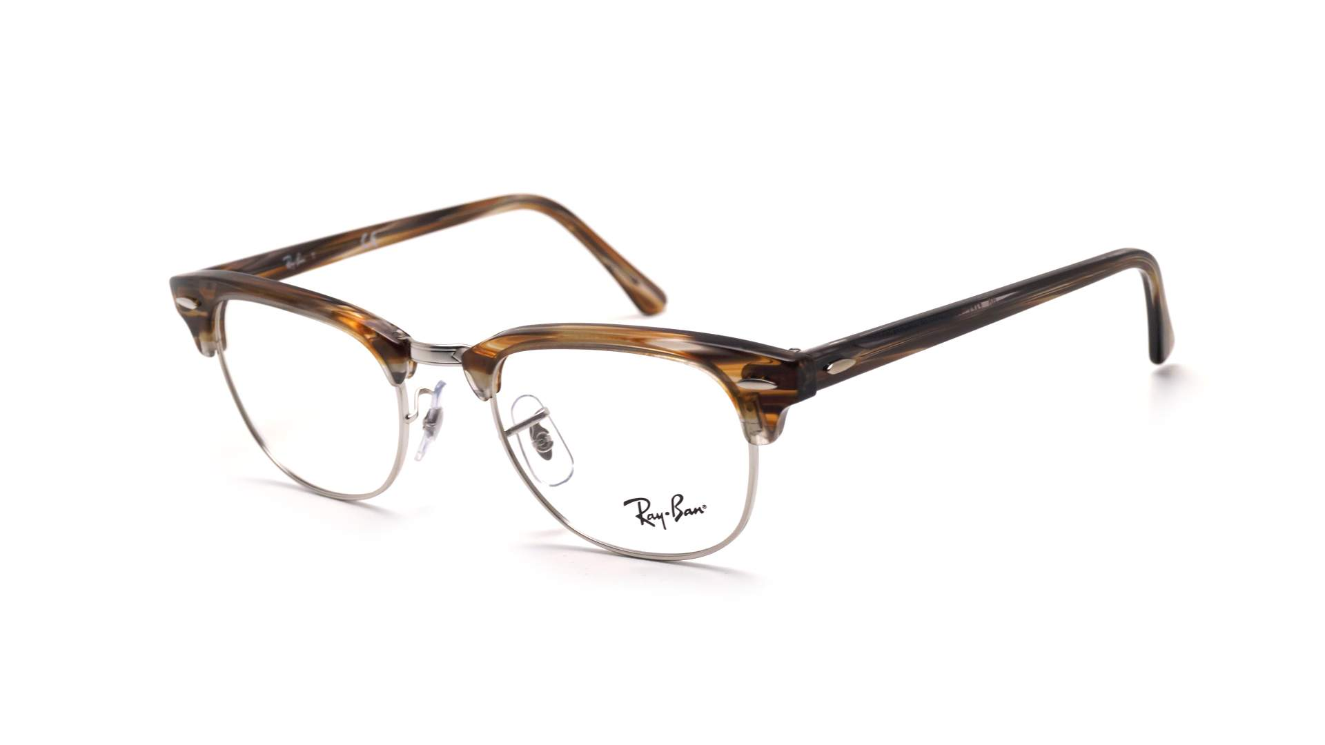 Eyeglasses Ray-Ban Clubmaster Brown RX5154 RB5154 5749 49-21 Small 29b4b2d451