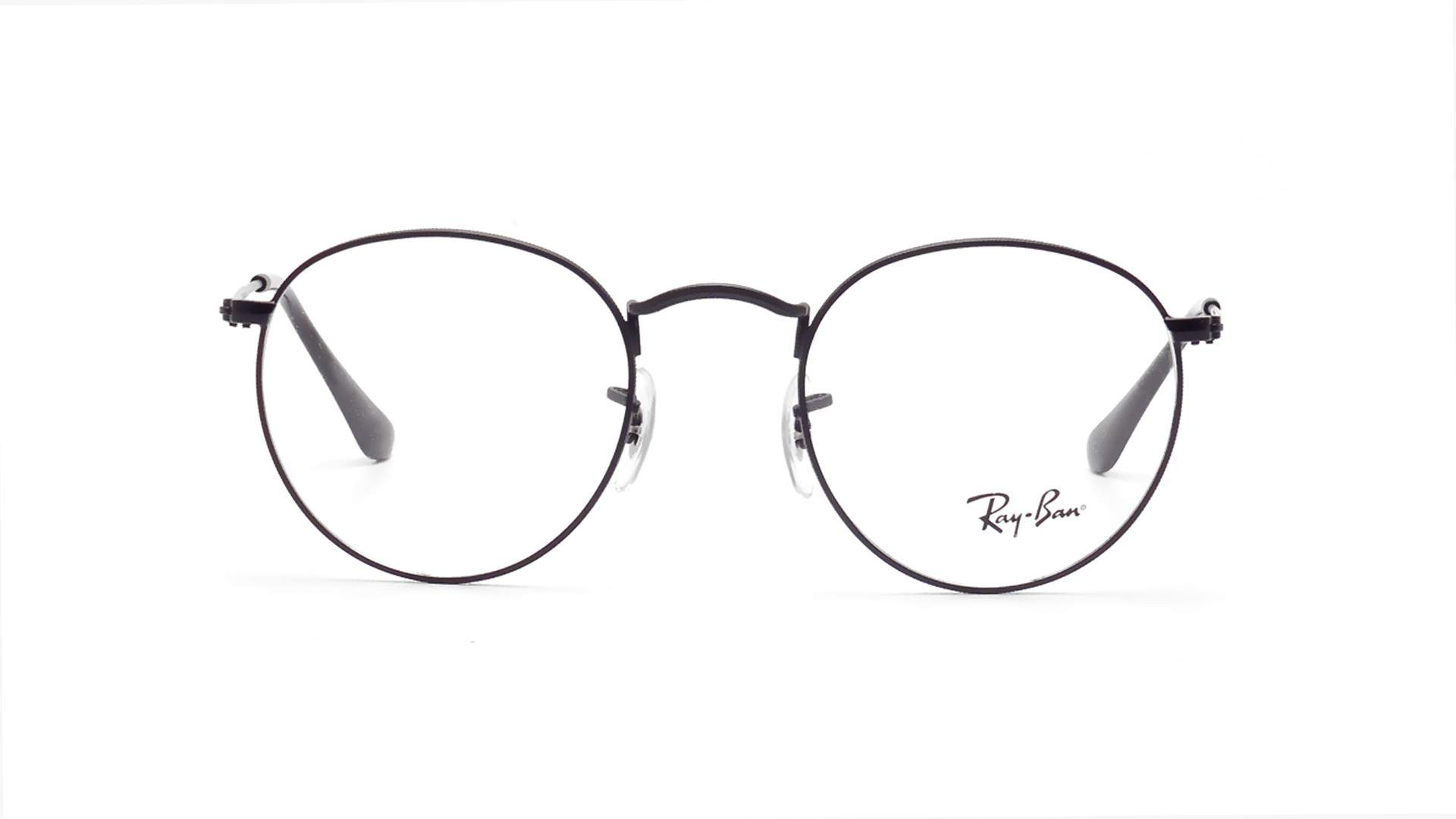 53eea3df0c3 Eyeglasses Ray-Ban Round Metal Black Matte RX3447 RB3447V 2503 50-21 Medium