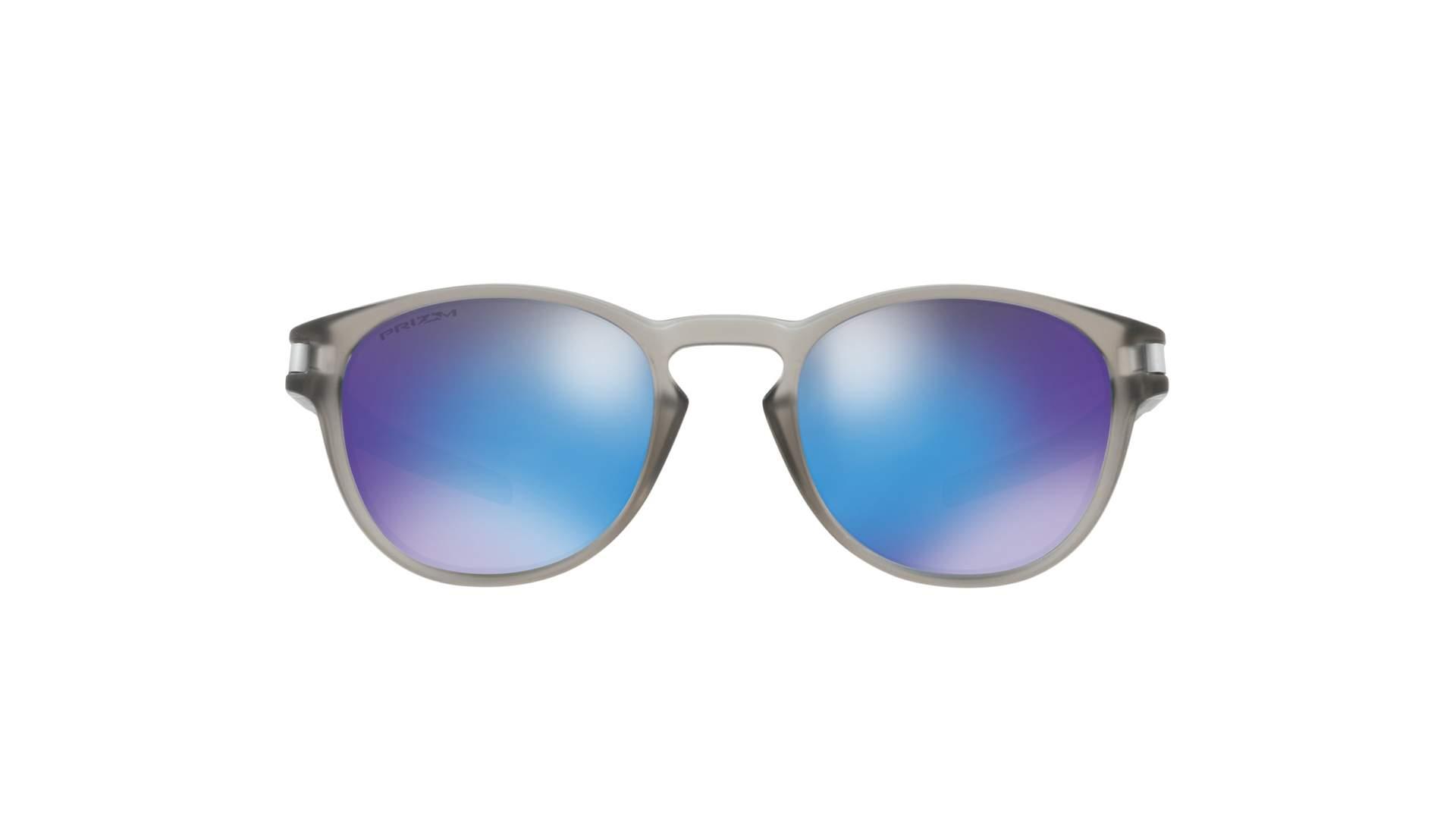 07b016124073bd Lunettes de soleil Oakley Latch Sapphir Gris Mat Prizm OO9265 32 53-21  Medium Polarisés Miroirs