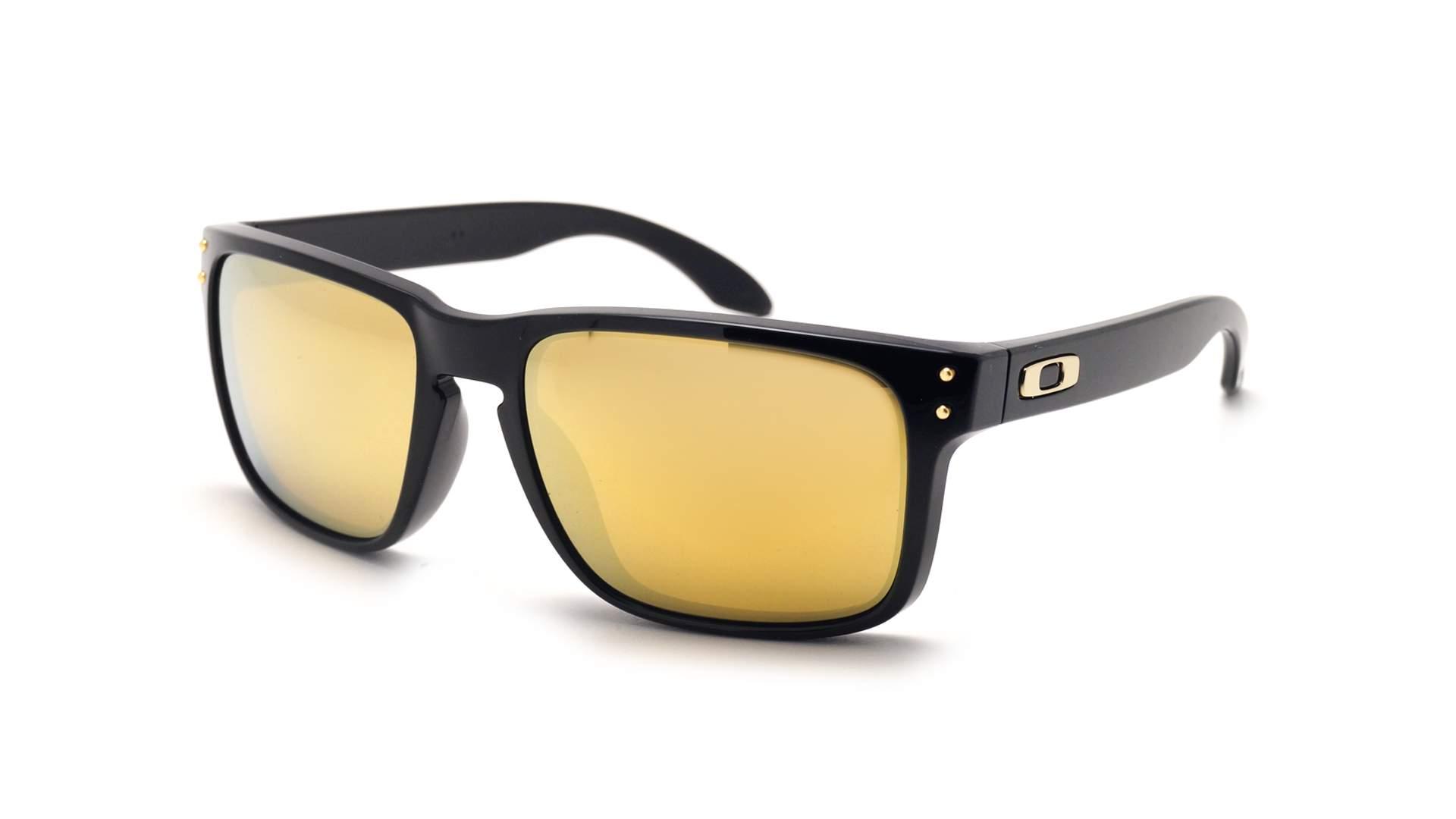 5b1de463f2a5e Lunettes de soleil Oakley Holbrook Noir OO9102 E3 55-18 Large Miroirs