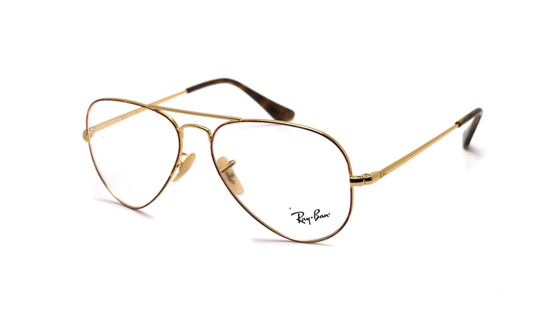 bcd7762d93 Eyeglasses Ray-Ban Aviator Optics Gold RX6489 RB6489 2945 58-14 Large