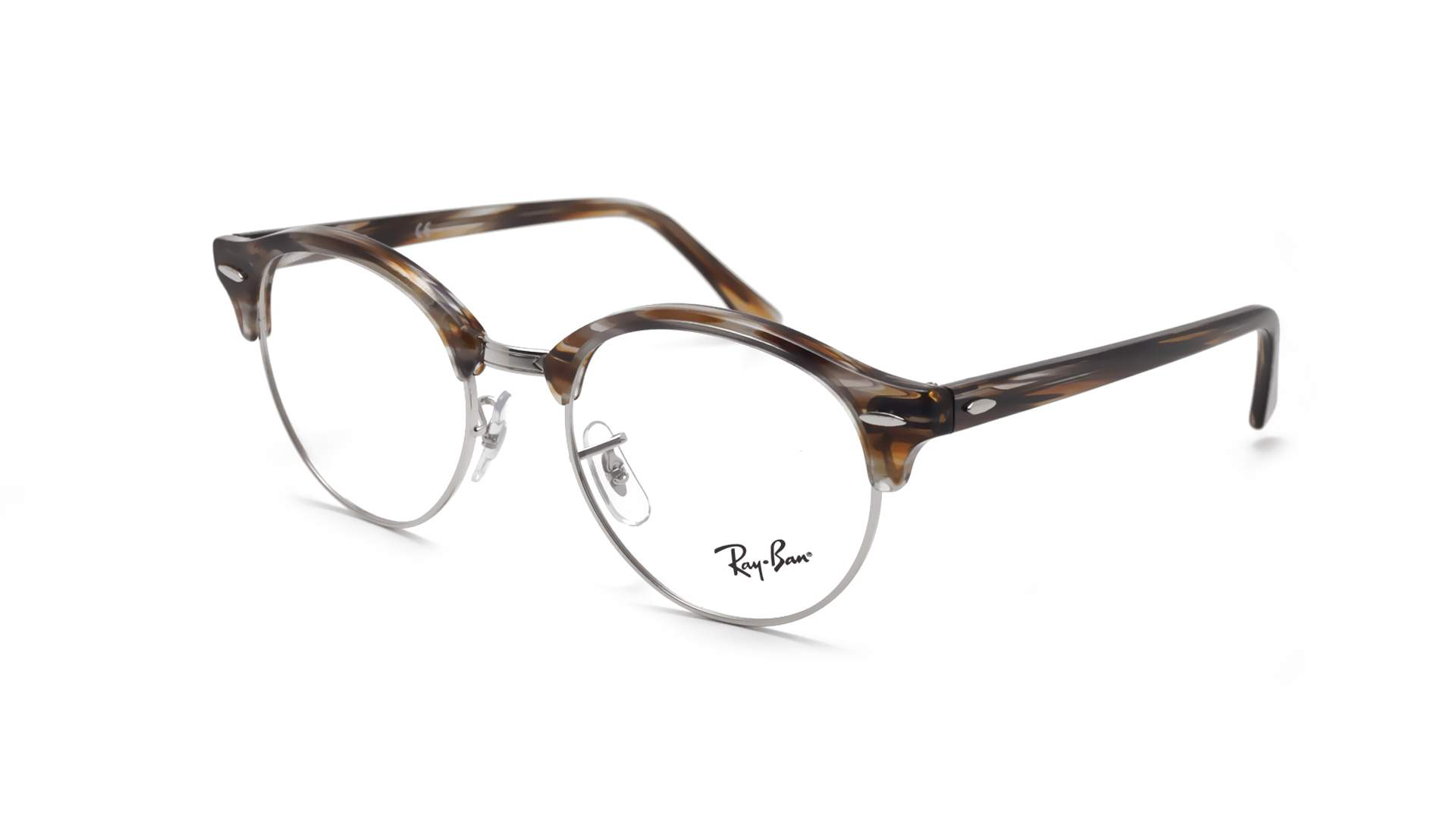 0a36f2b232 Eyeglasses Ray-Ban Clubround Brown RX4246 RB4246V 5749 49-19 Medium