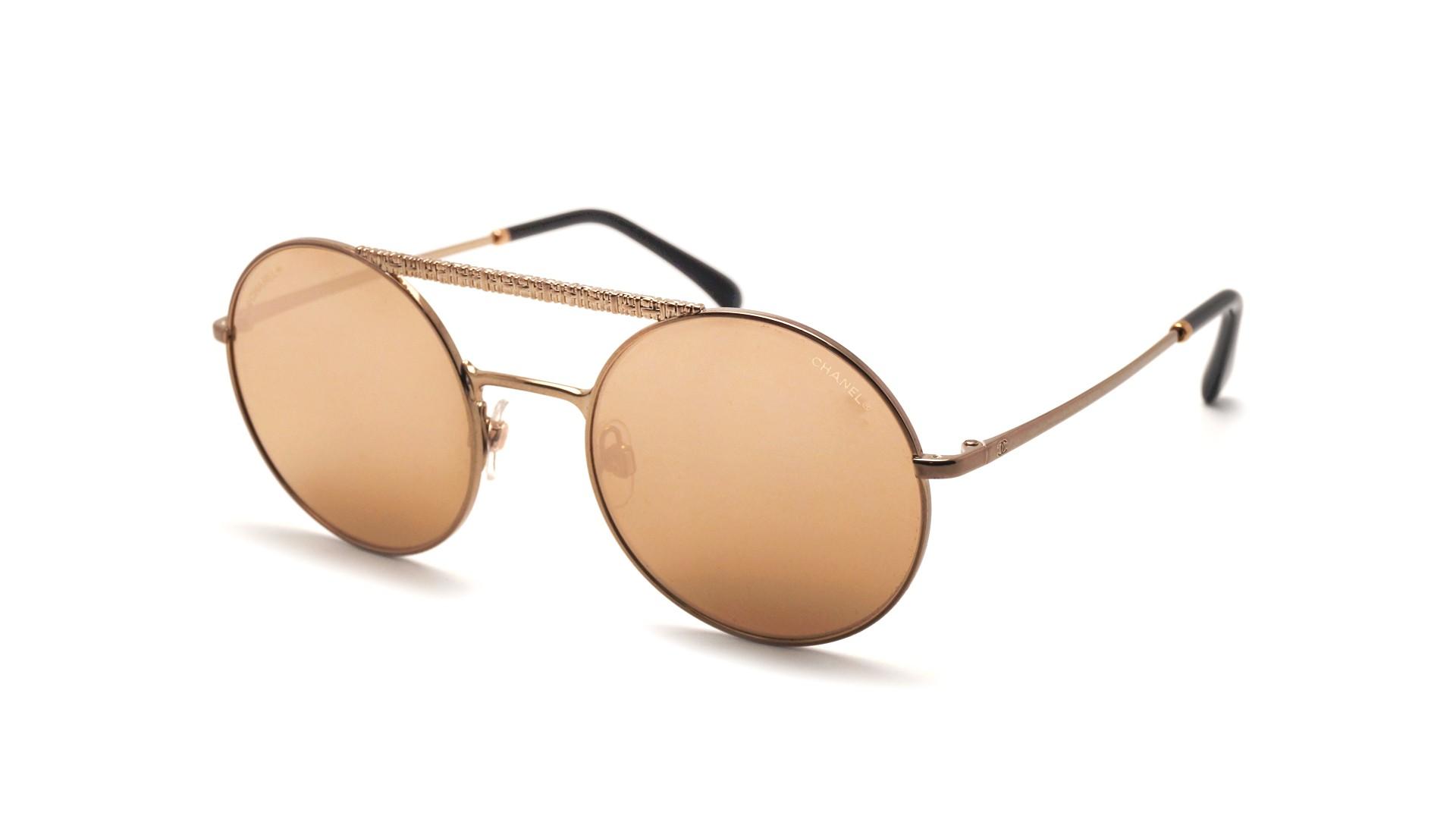 802124ee2c129 Sunglasses Chanel CH4232 C470 T6 53-21 Gold Medium Flash