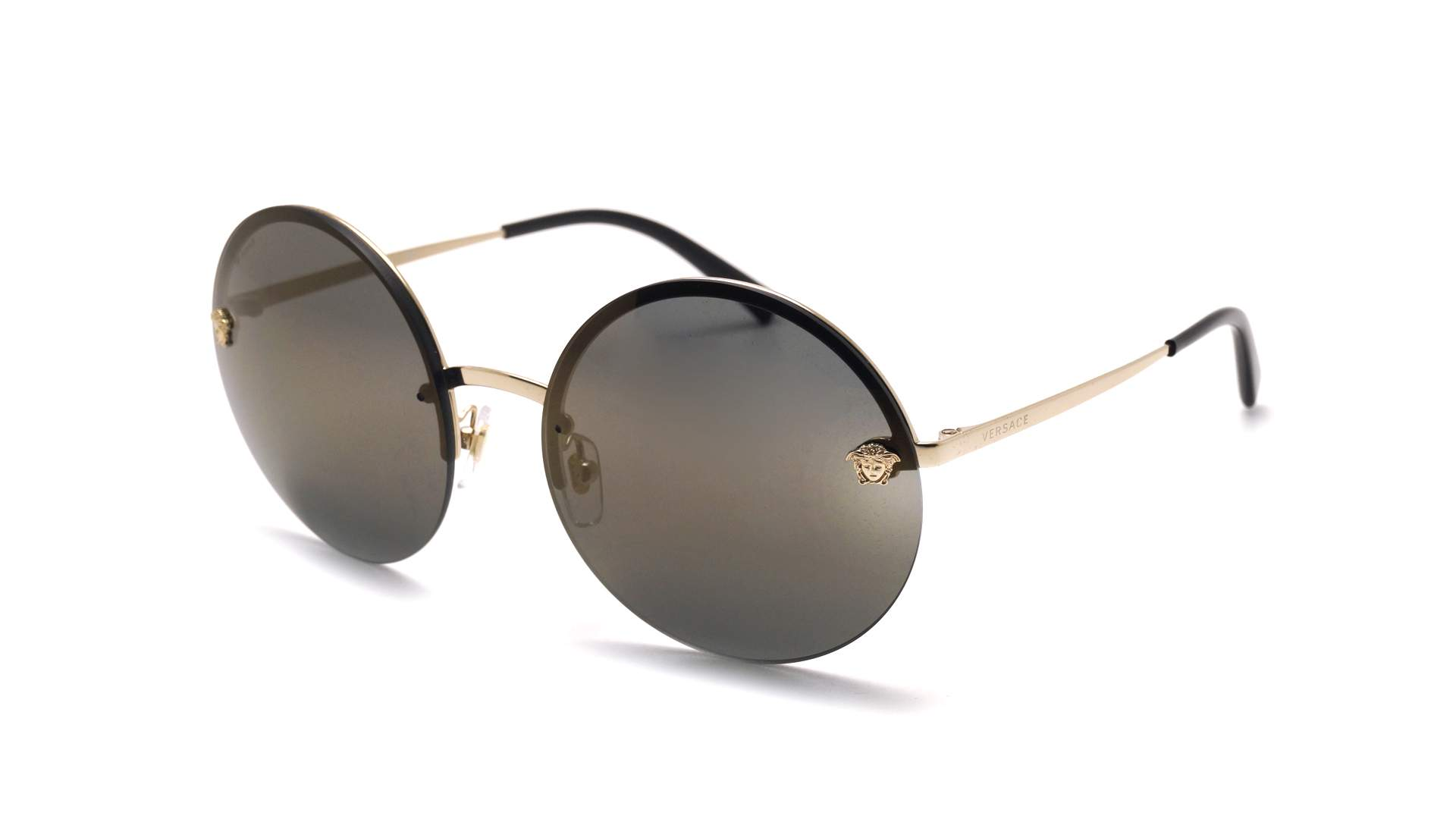 74541bed1674 Sunglasses Versace VE2176 1252 4T 59-16 Gold Large Mirror