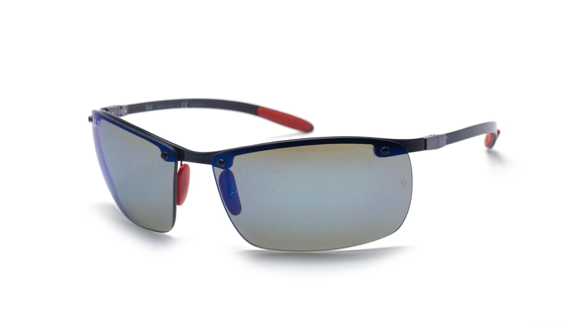 d3848b48fd Sunglasses Ray-Ban Fibre Carbon Scuderia Ferrari Grey RB8305M F005 H0 65-14  Large Polarized Flash