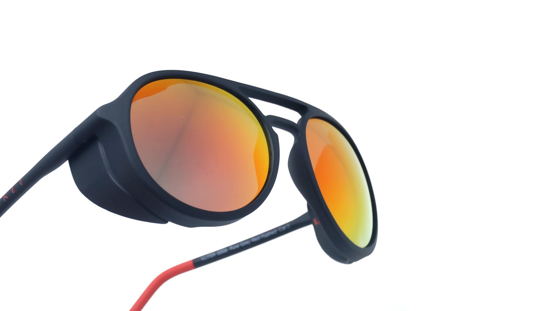 2218711cad Sunglasses Vuarnet Ice Black Mat VL1709 0006 1121 51-18 Large Flash