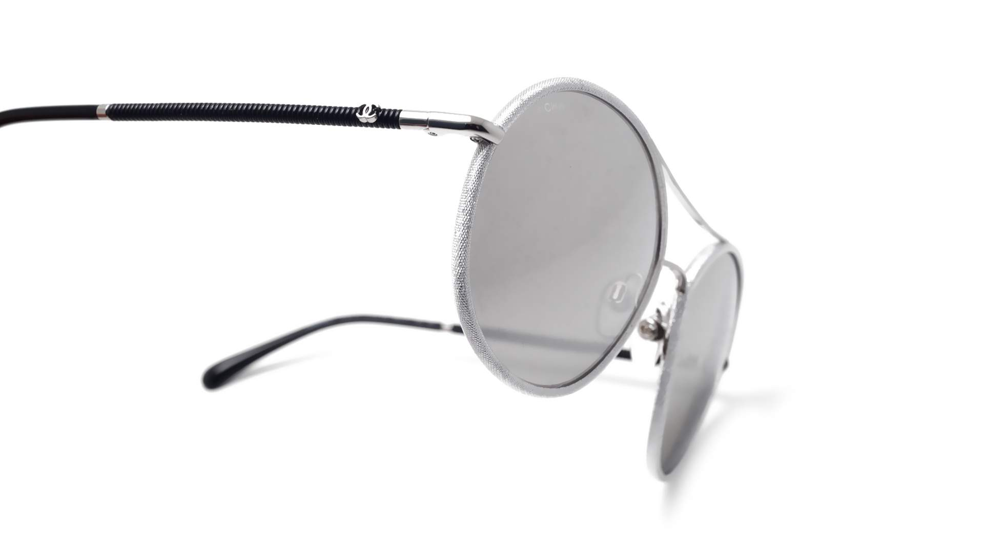 a84a4402e0 Sunglasses Chanel CH4228Q C124/Z6 56-17 Silver Medium Mirror