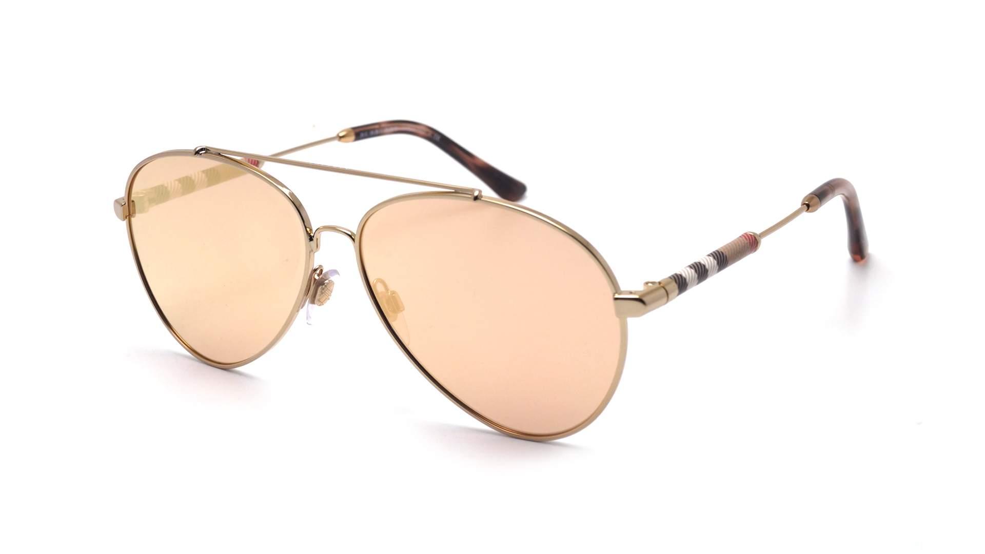 8cc3f0158ef2 Sunglasses Burberry BE3092Q 12437J 57-13 Gold Large Mirror