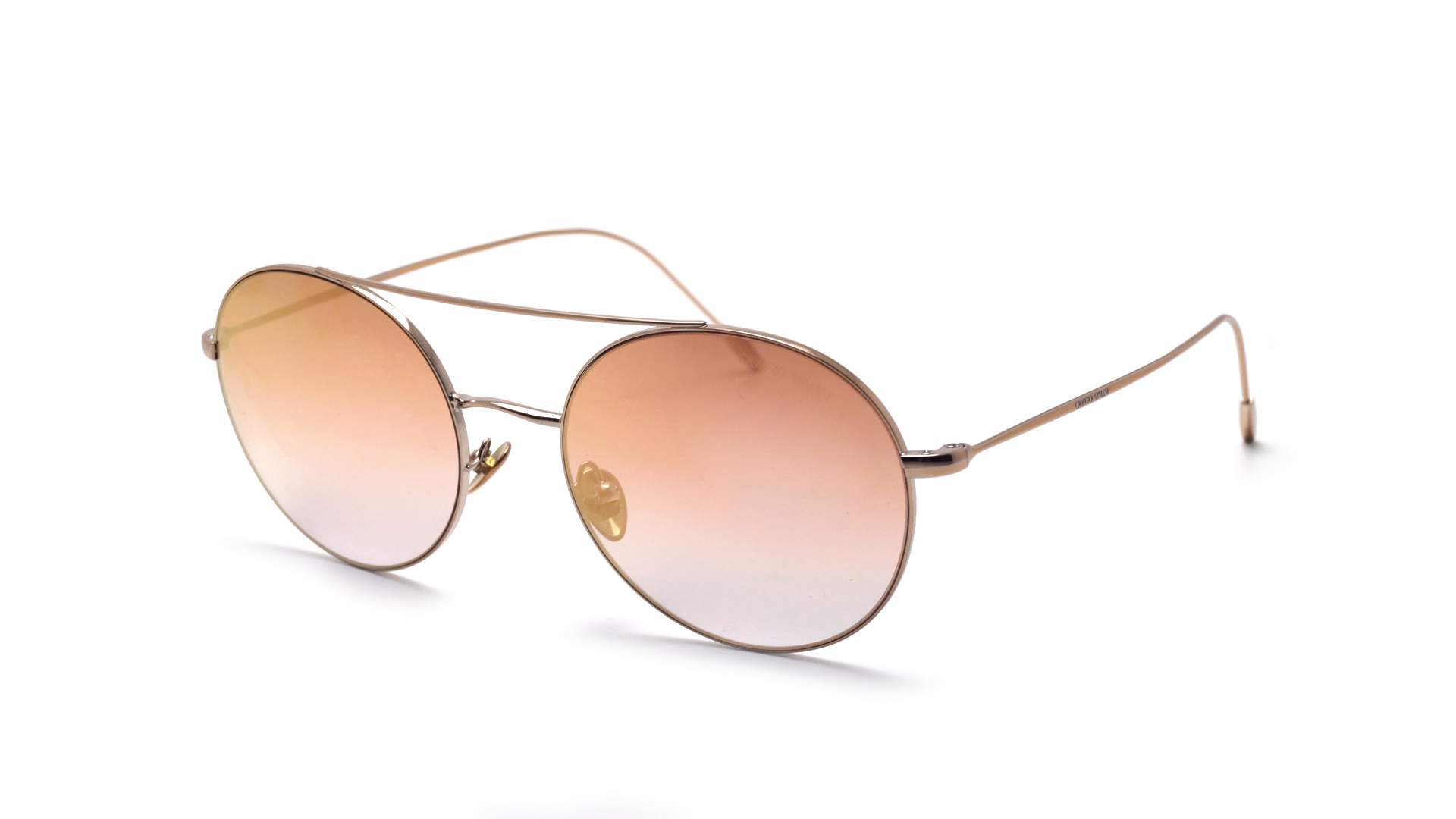 822034f667f4 Sunglasses Giorgio Armani Frames Of Life Gold AR6050 3011 6F 54-19 Large  Gradient Mirror