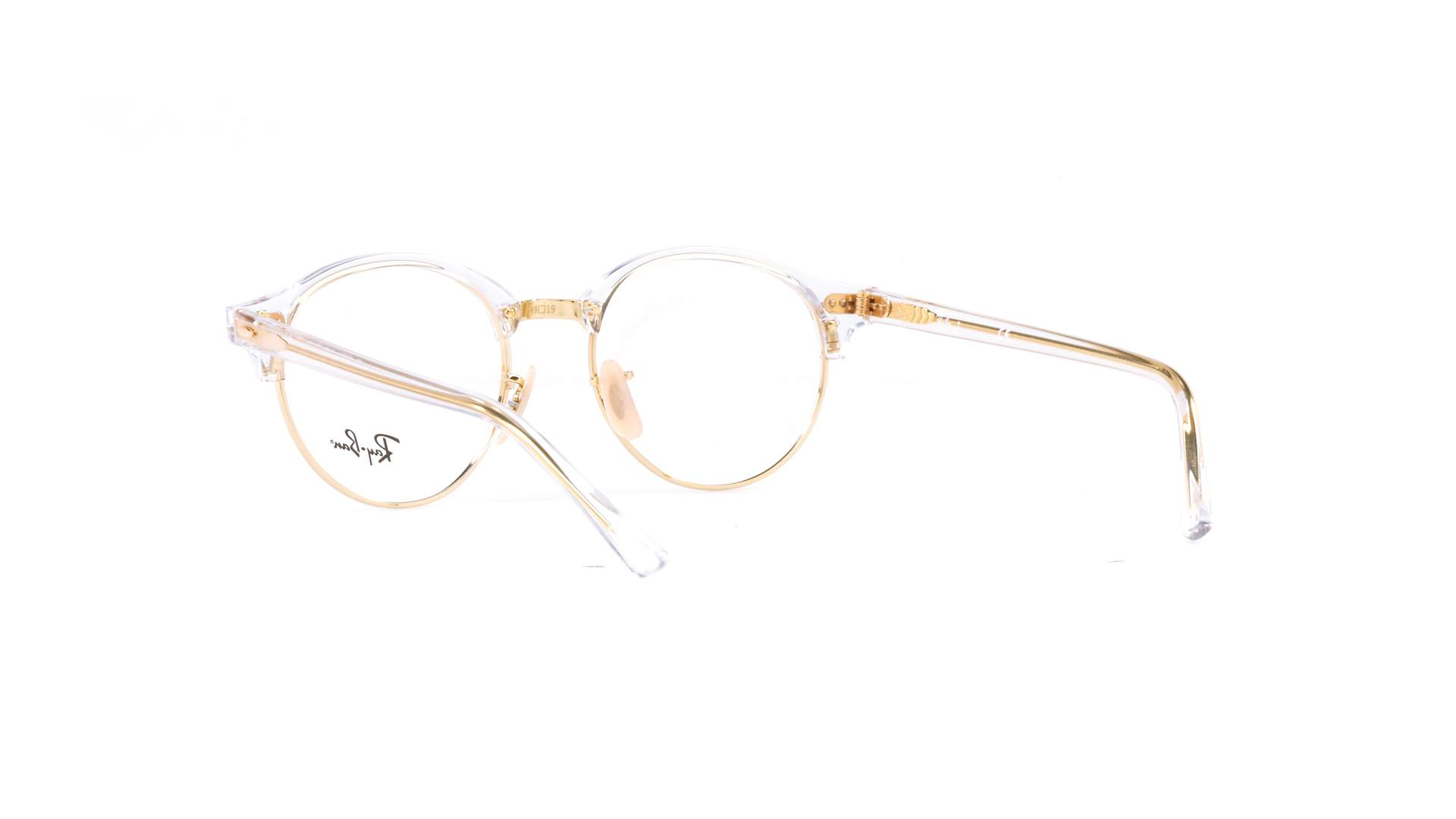 94c0d53744 Eyeglasses Ray-Ban Clubround Clear RX4246 RB4246V 5762 49-19 Medium