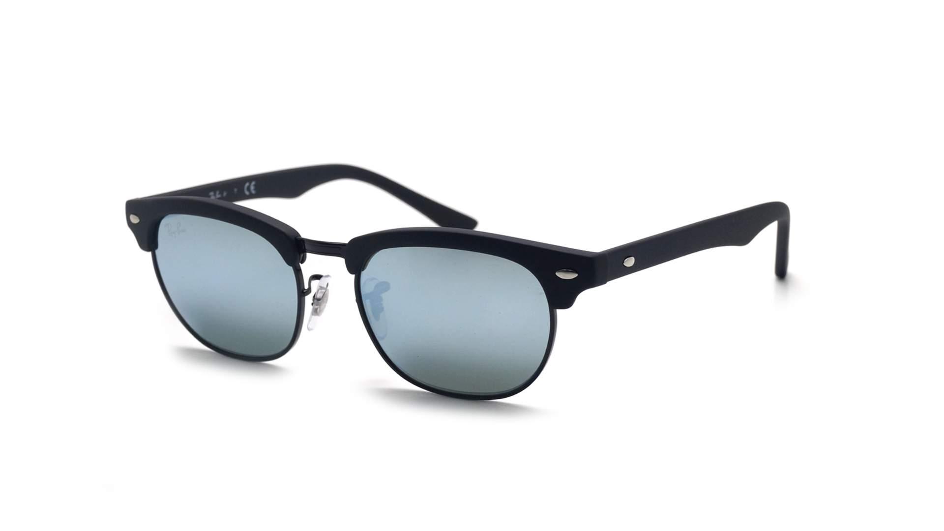 Lunettes de soleil Ray-Ban Clubmaster Noir Mat RJ9050S 100S 30 47-16 Junior  Enfant Miroirs f0854749564d
