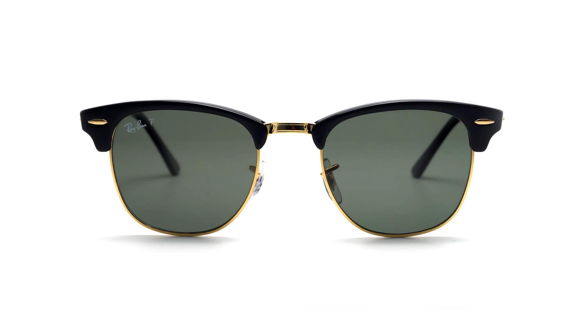 81825f055280e Sonnenbrillen Ray-Ban Clubmaster Schwarz RB3016 901 58 51-21 Mittel  Polarisierte Gläser