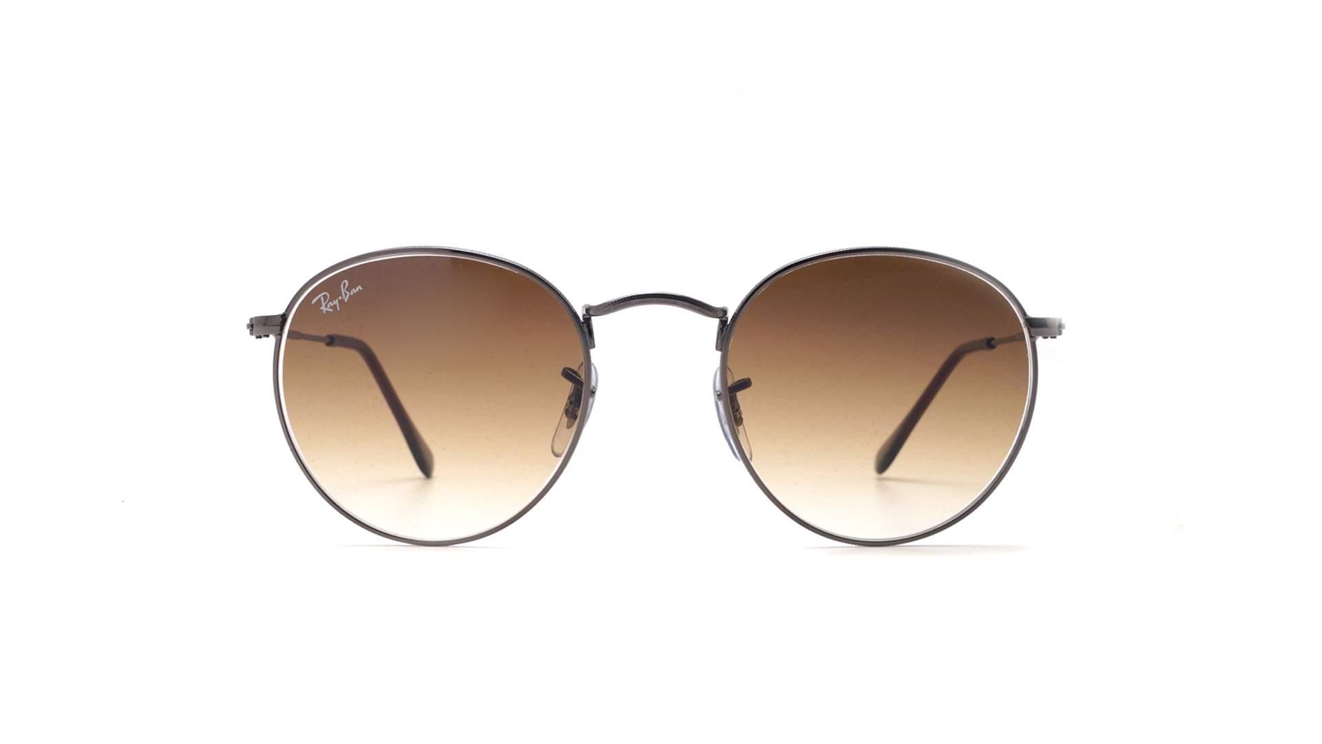 86f4f44ecb Sunglasses Ray-Ban Round metal Gun Flat Lenses Grey RB3447N 004 51 50-21  Medium Gradient